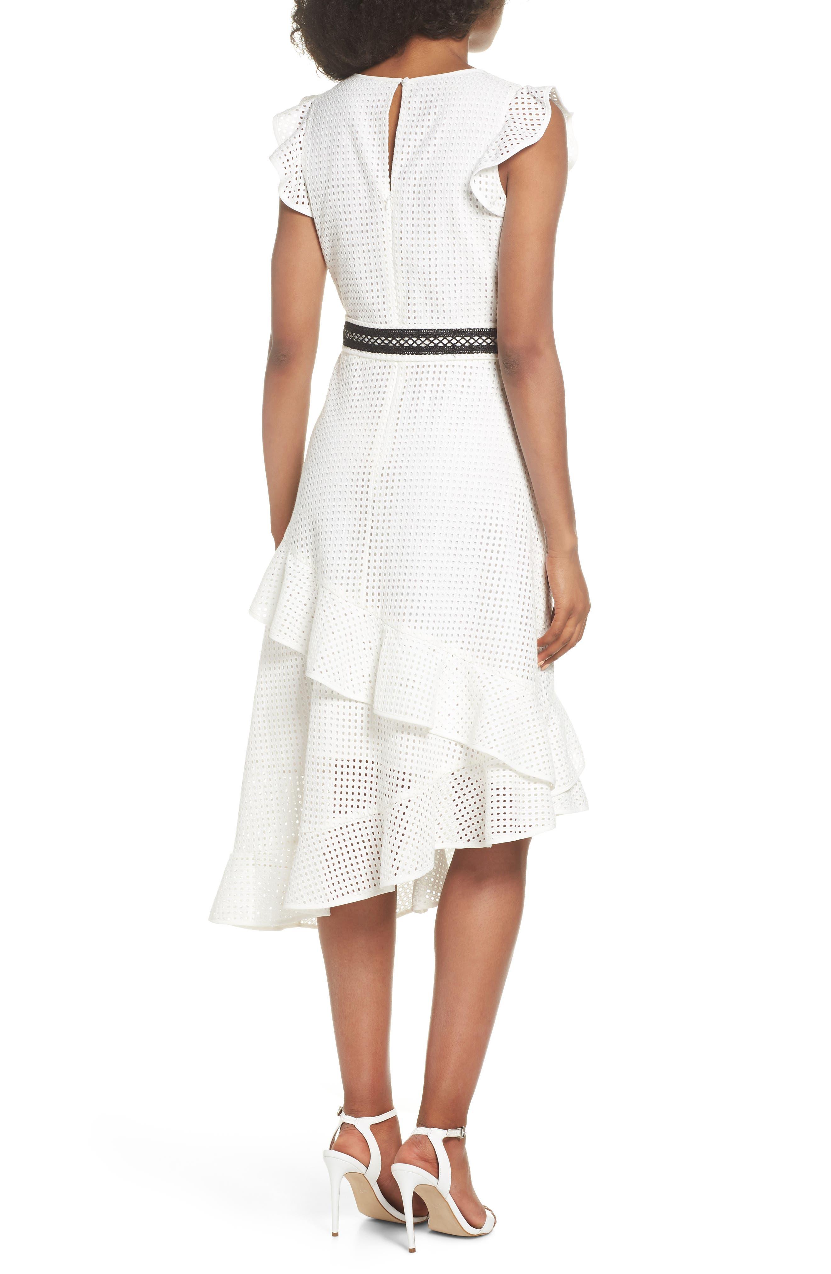 Asymmetrical Hem Dress,                             Alternate thumbnail 2, color,                             White