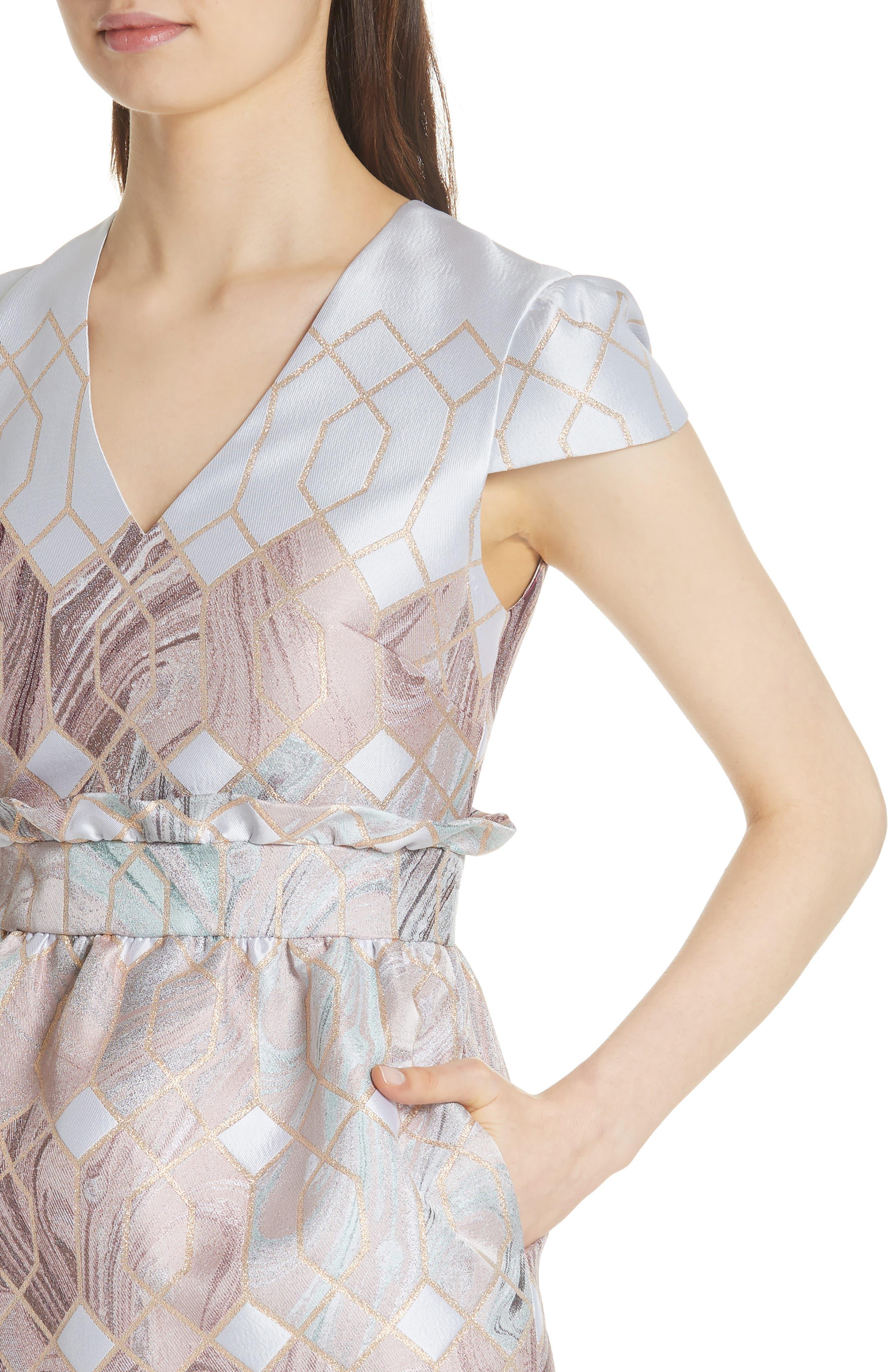 Ingrida Sea of Clouds Tulip Dress,                             Alternate thumbnail 4, color,                             White