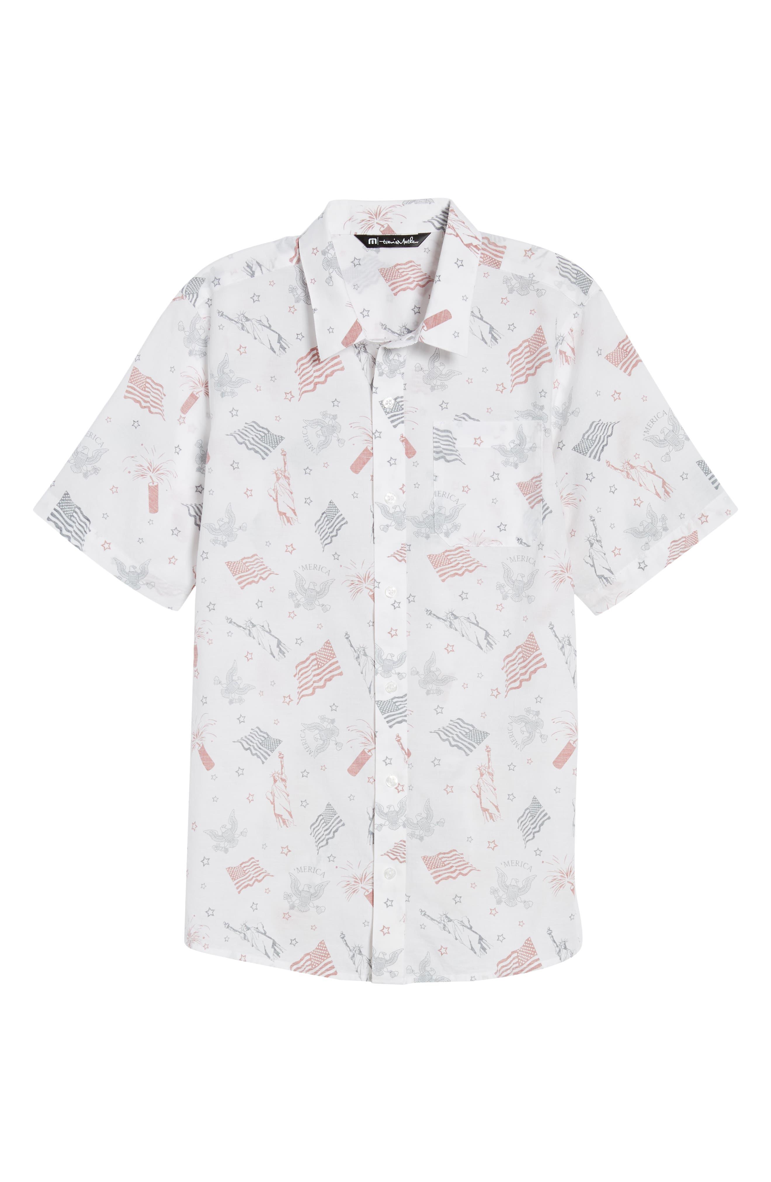 Black Cat Regular Fit Short Sleeve Sport Shirt,                             Alternate thumbnail 6, color,                             White
