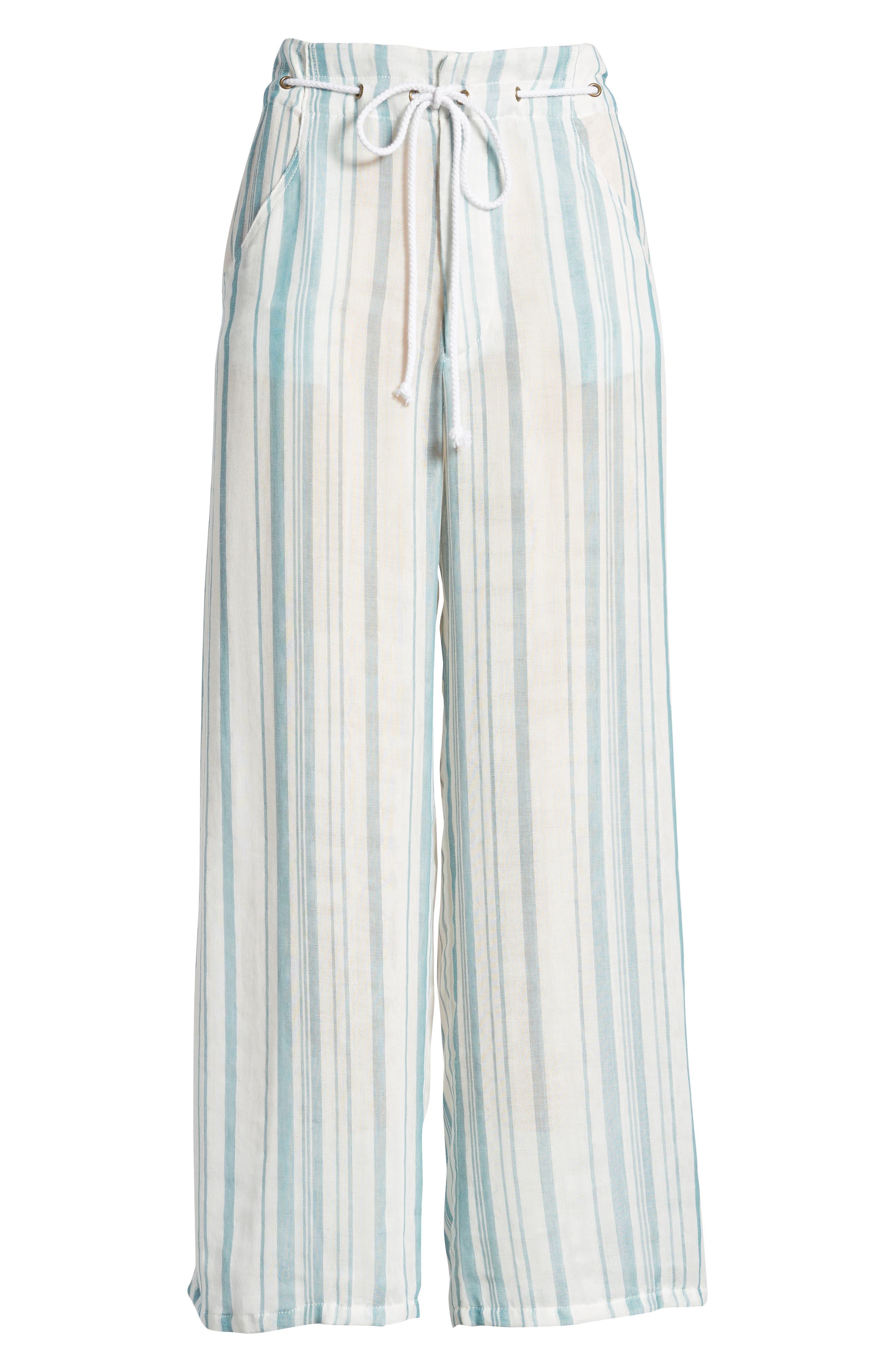 Peterson Wide Leg Pants,                             Alternate thumbnail 10, color,                             Point Dume Stripe