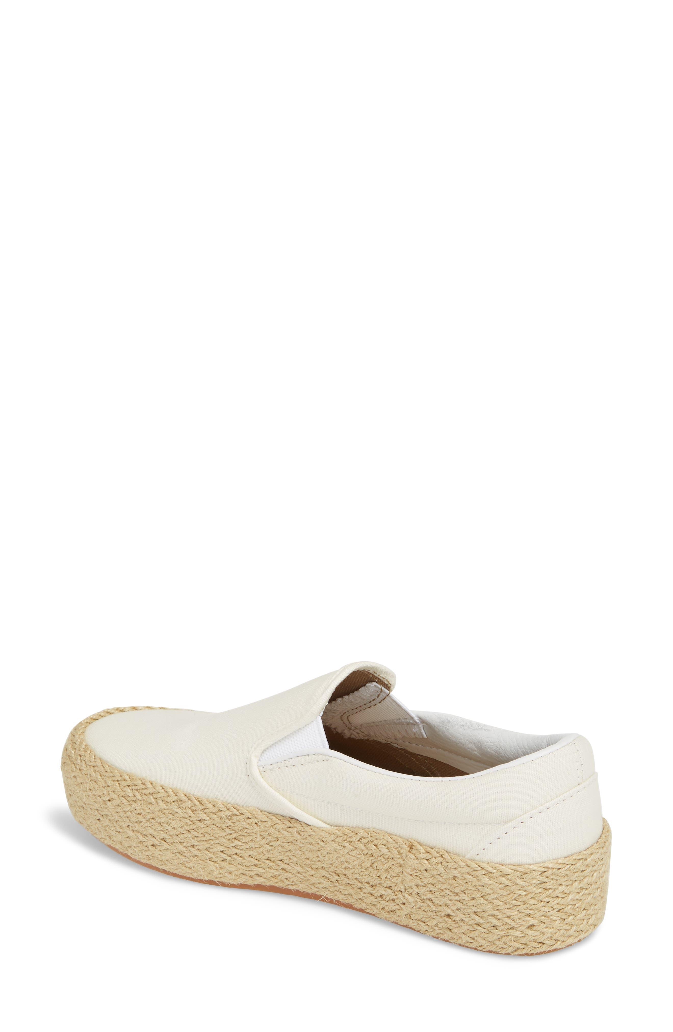 Platform Slip-On Sneaker,                             Alternate thumbnail 2, color,                             Marshmallow