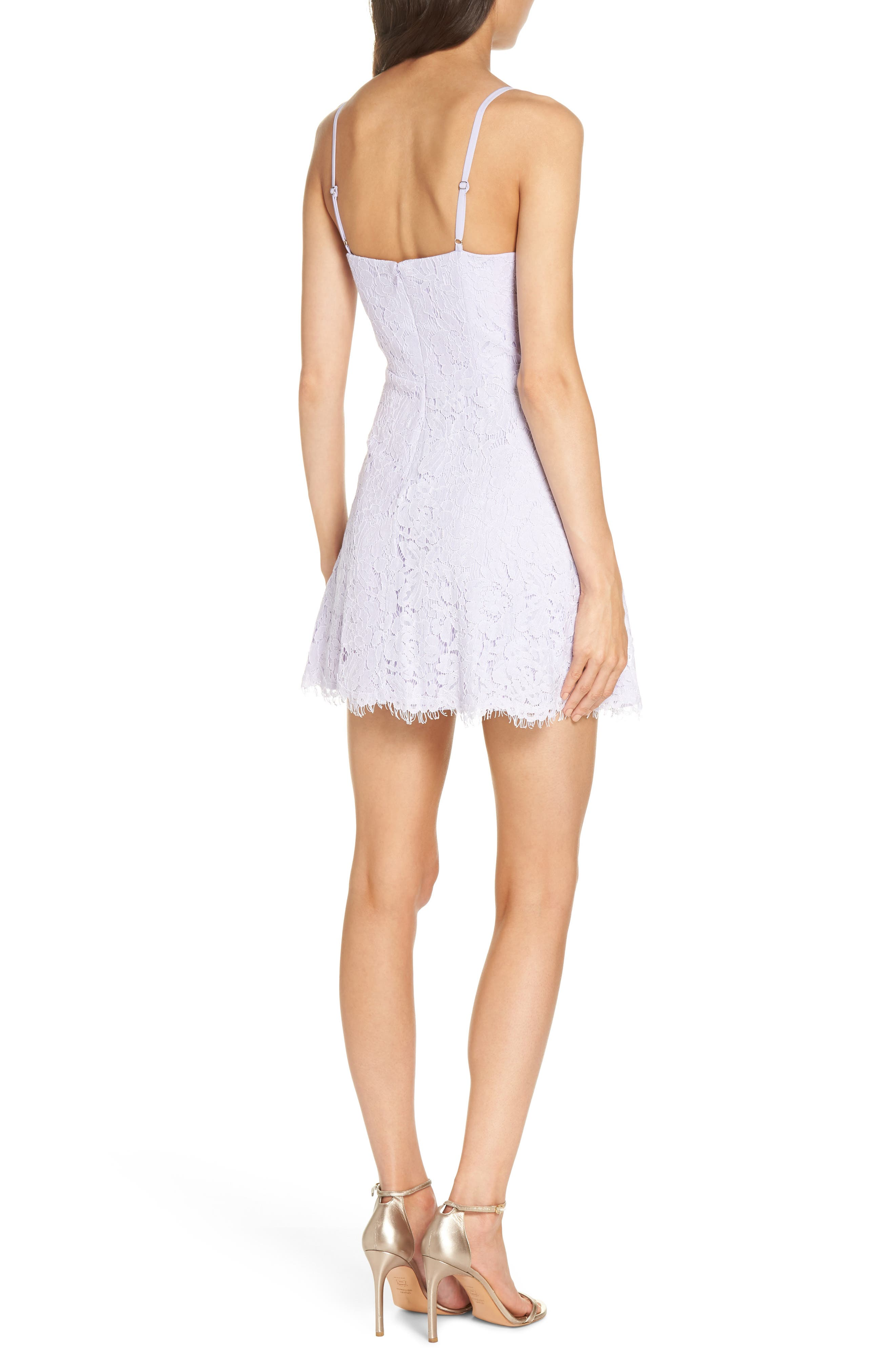 The Fiona Lace Minidress,                             Alternate thumbnail 2, color,                             Lilac