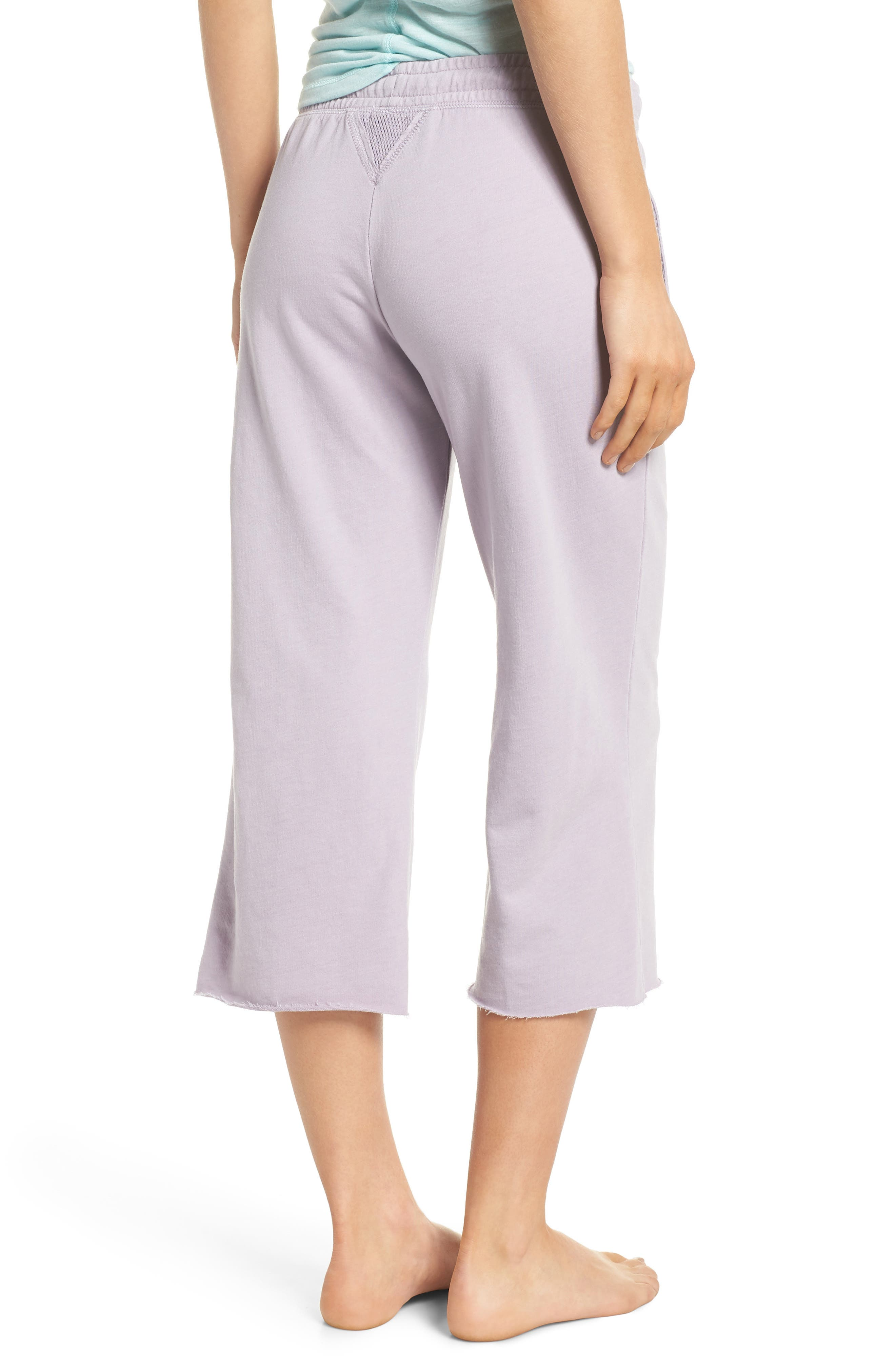 Studded Crop Pajama Pants,                             Alternate thumbnail 2, color,                             Orchid