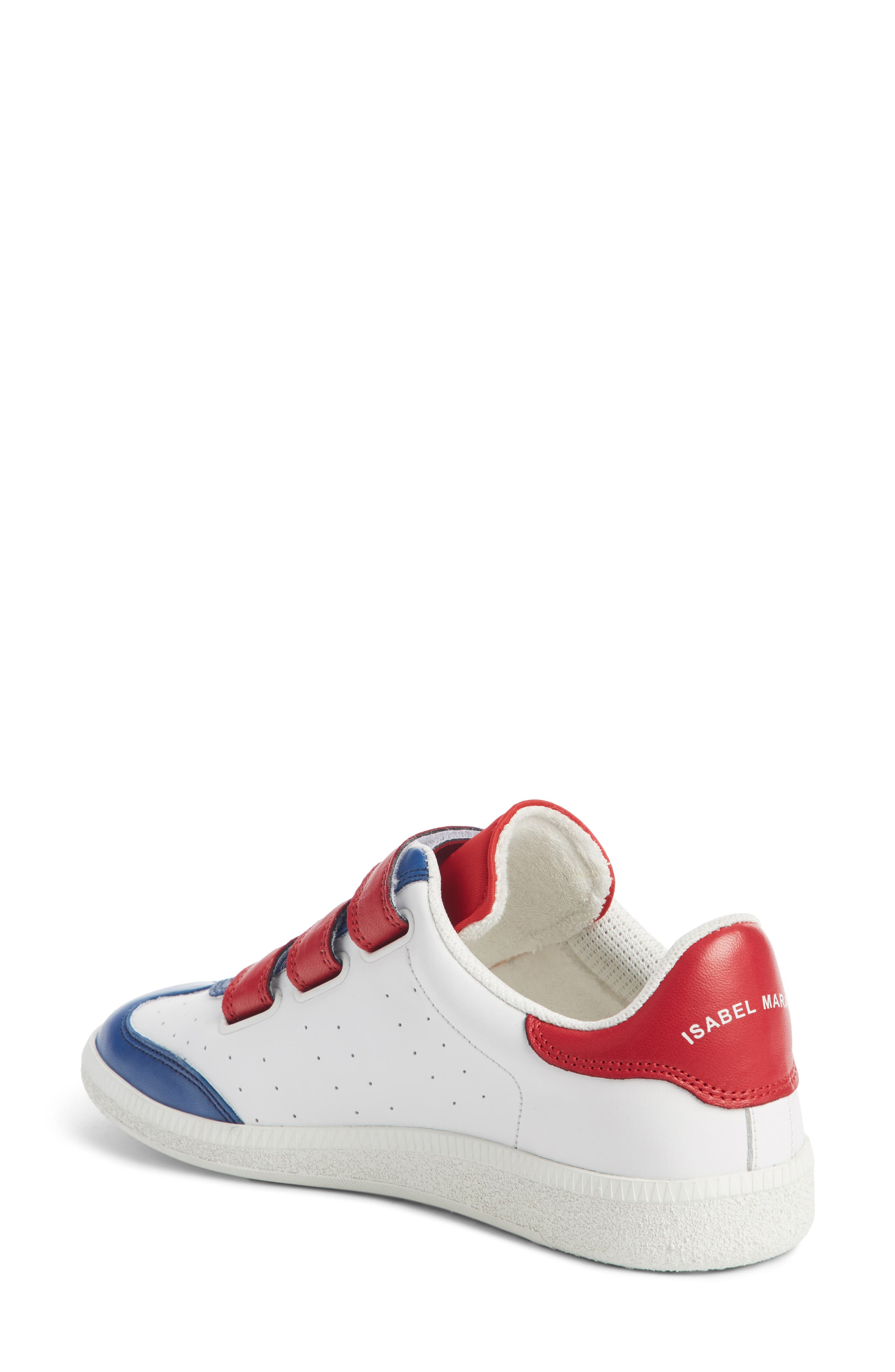 Beth Sneaker,                             Alternate thumbnail 2, color,                             White/ Blue/ Red