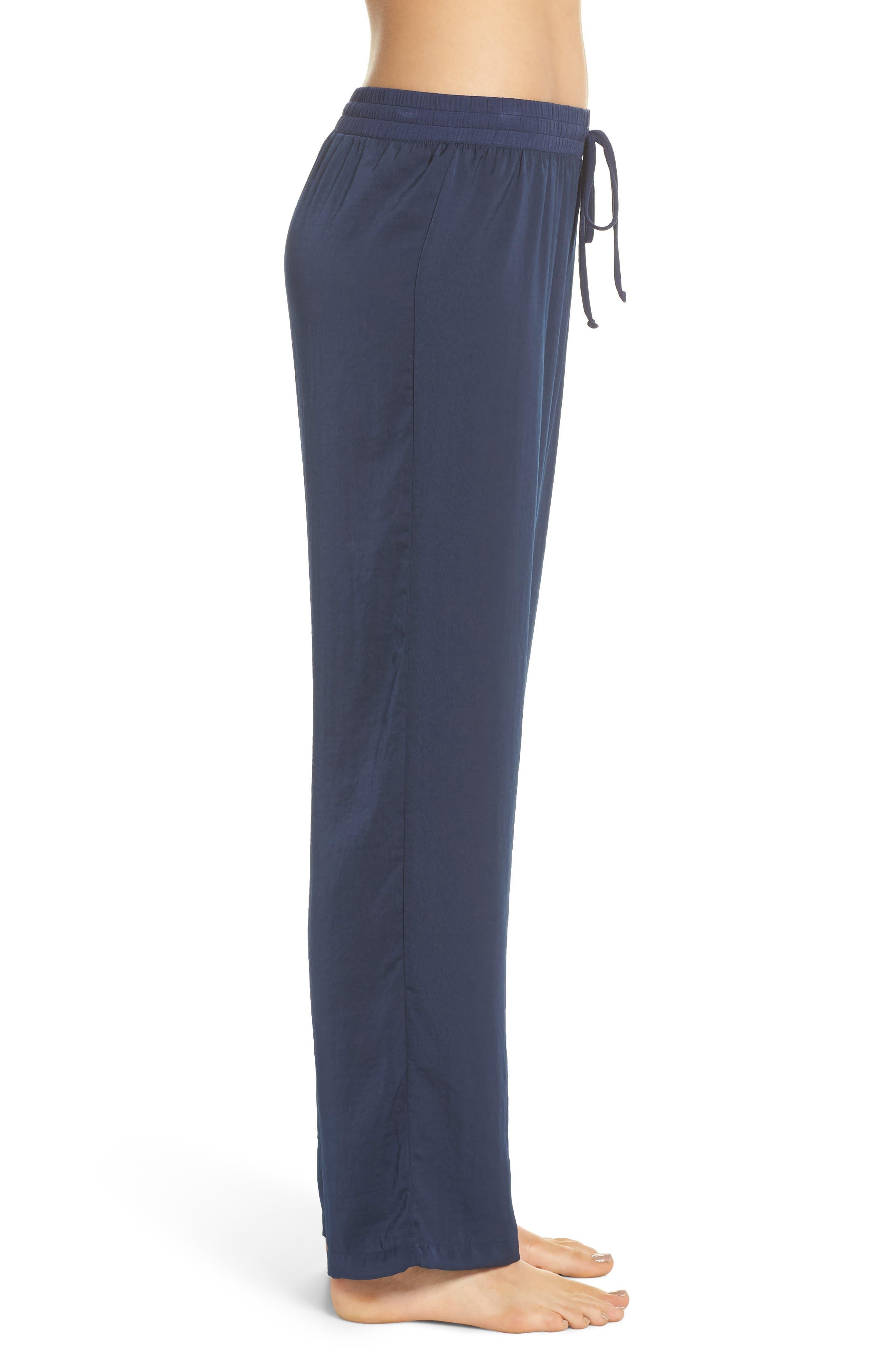 Pajama Pants,                             Alternate thumbnail 3, color,                             Navy