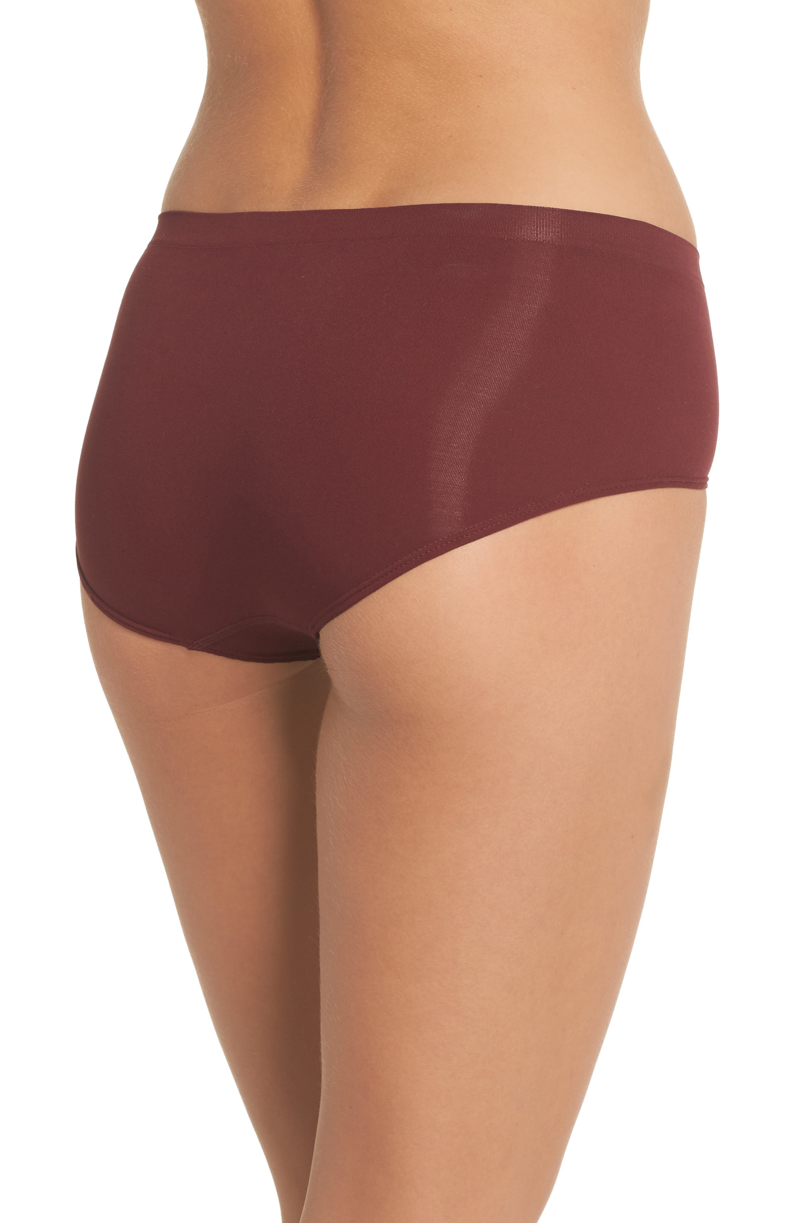 Seamless Hipster Briefs,                             Alternate thumbnail 2, color,                             Red Tannin