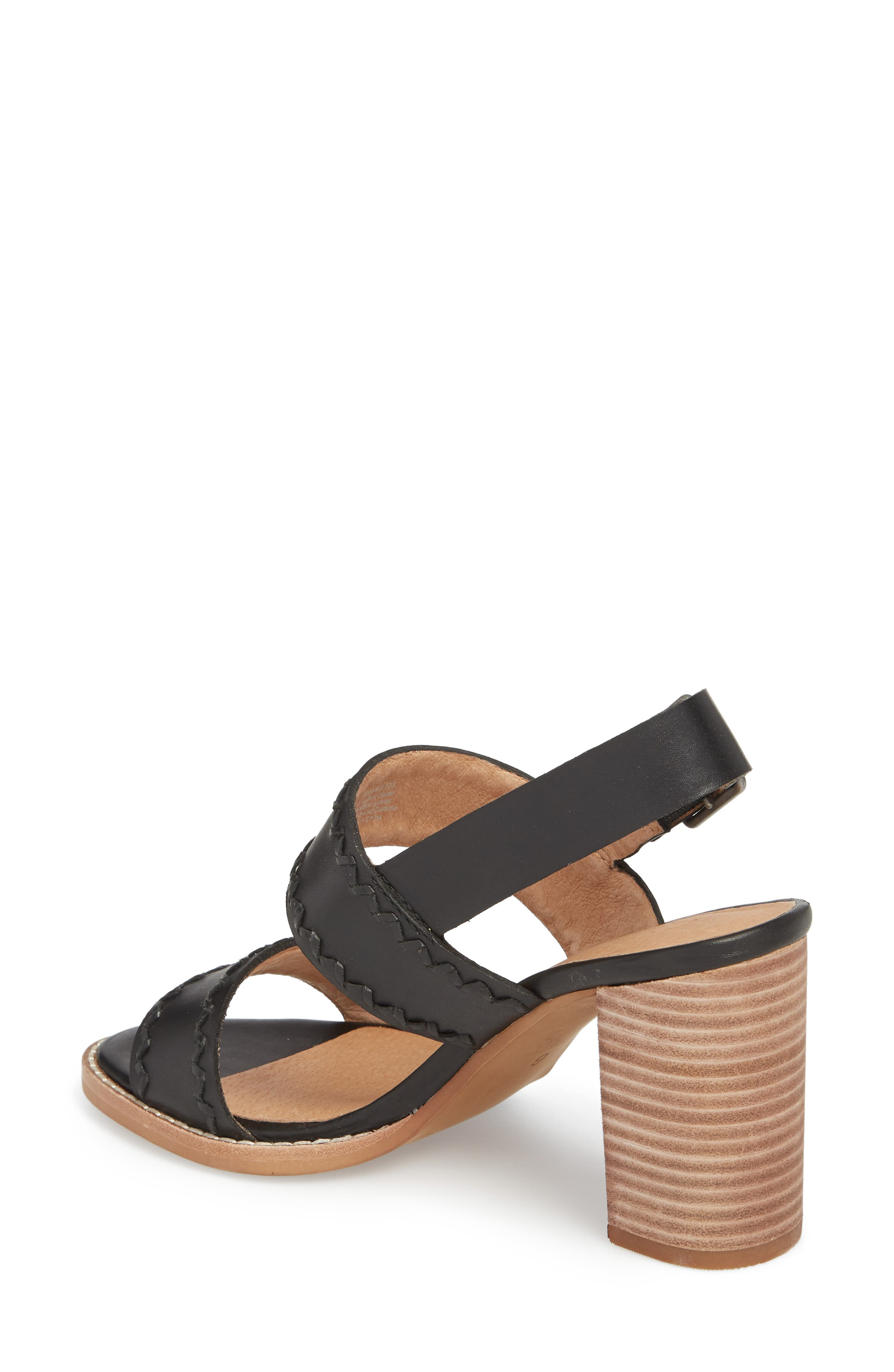 Giana Sandal,                             Alternate thumbnail 2, color,                             True Black Leather