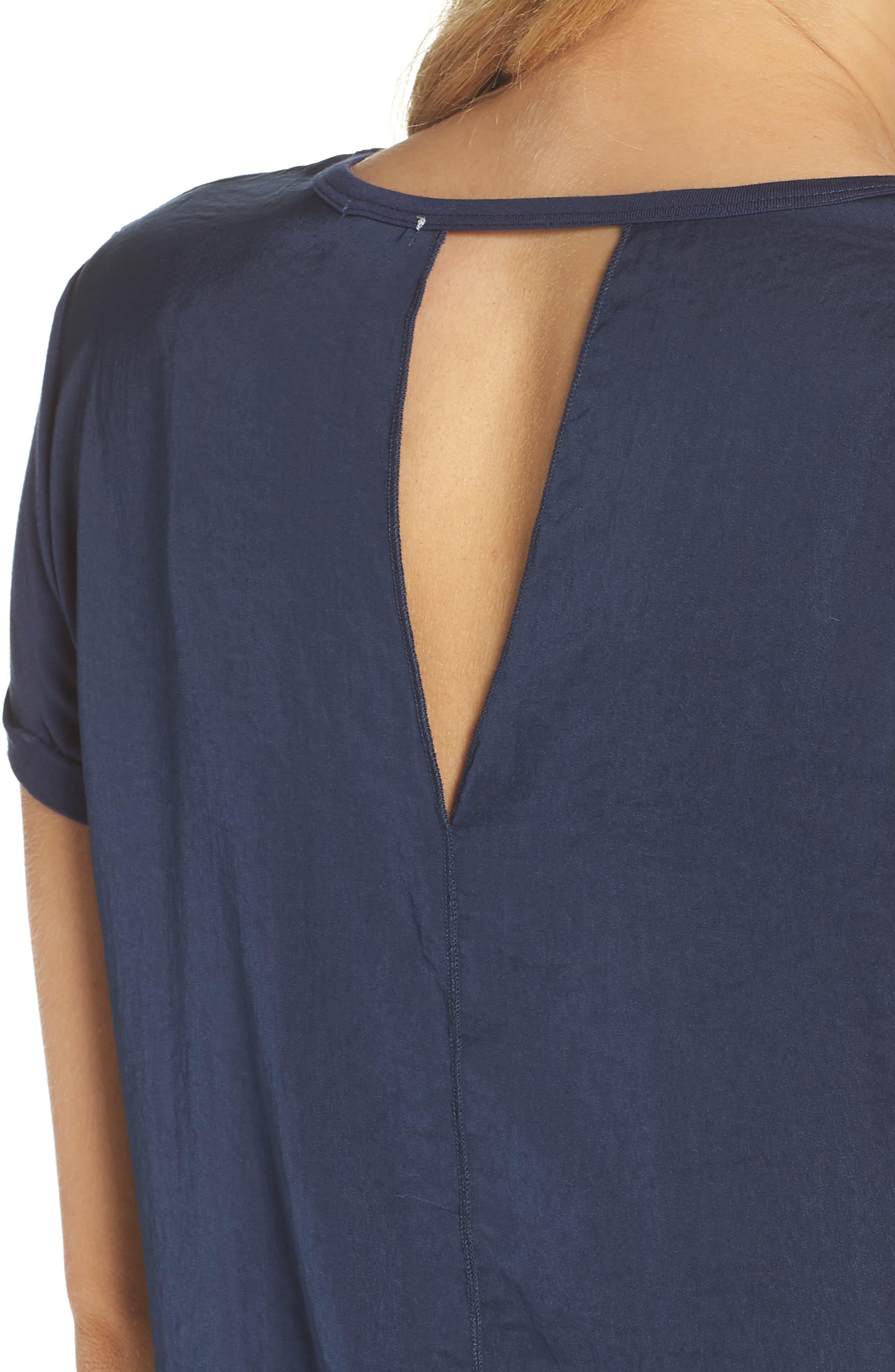 Pajama Tee,                             Alternate thumbnail 7, color,                             Navy