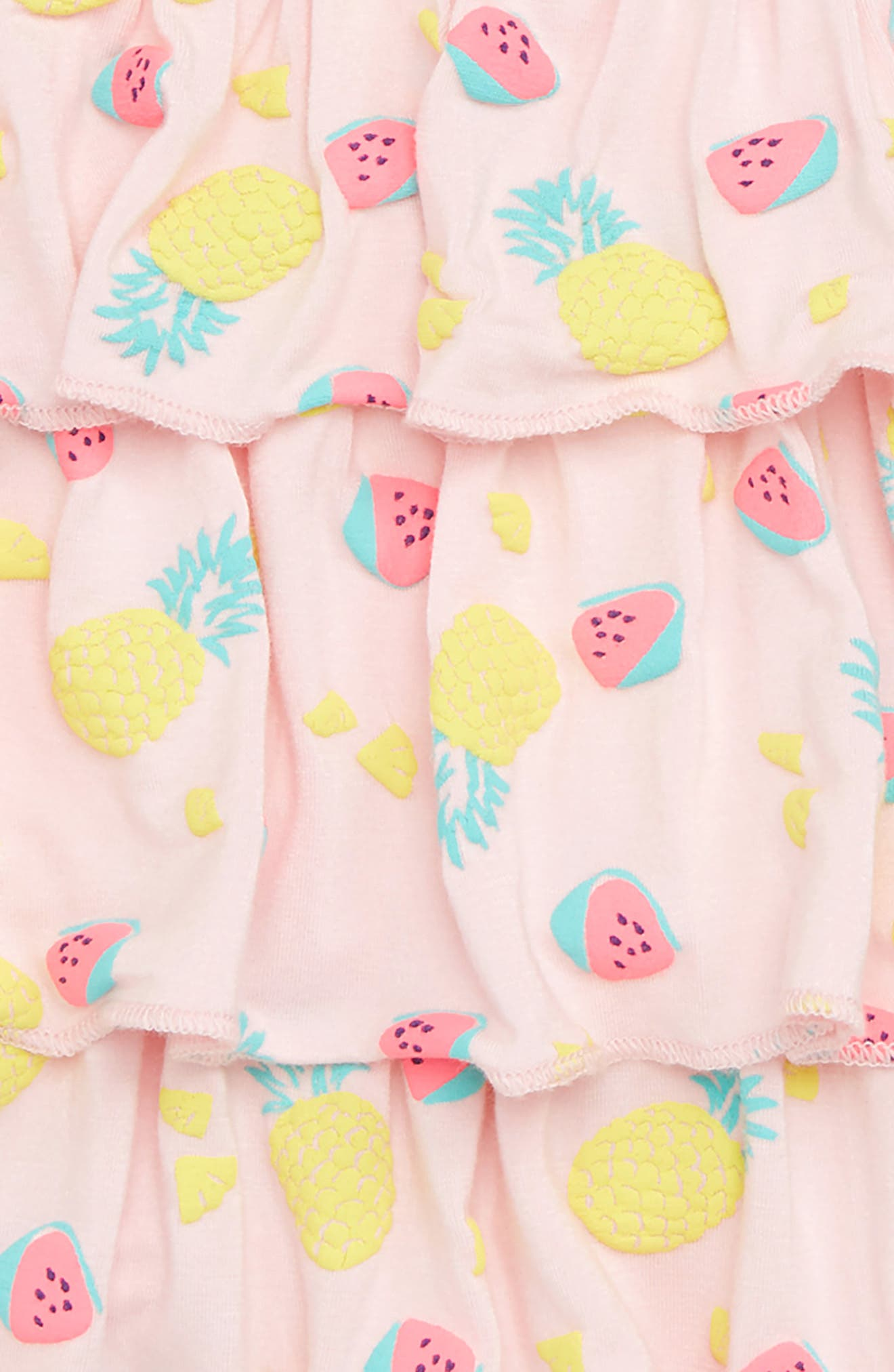 Tiered Sundress,                             Alternate thumbnail 2, color,                             Pink Breath Fruits