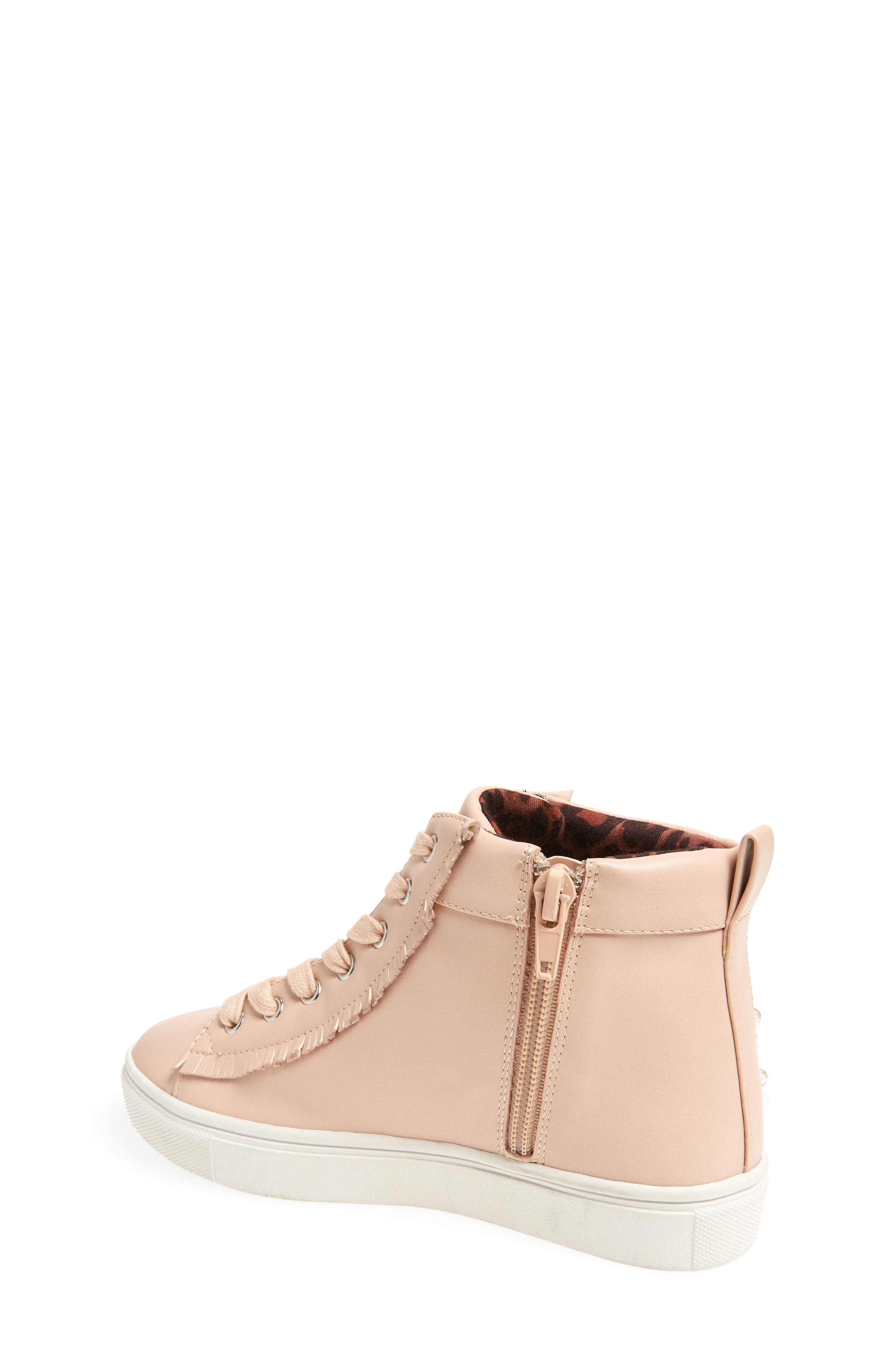Hybrid Embellished High Top Sneaker,                             Alternate thumbnail 2, color,                             Blush