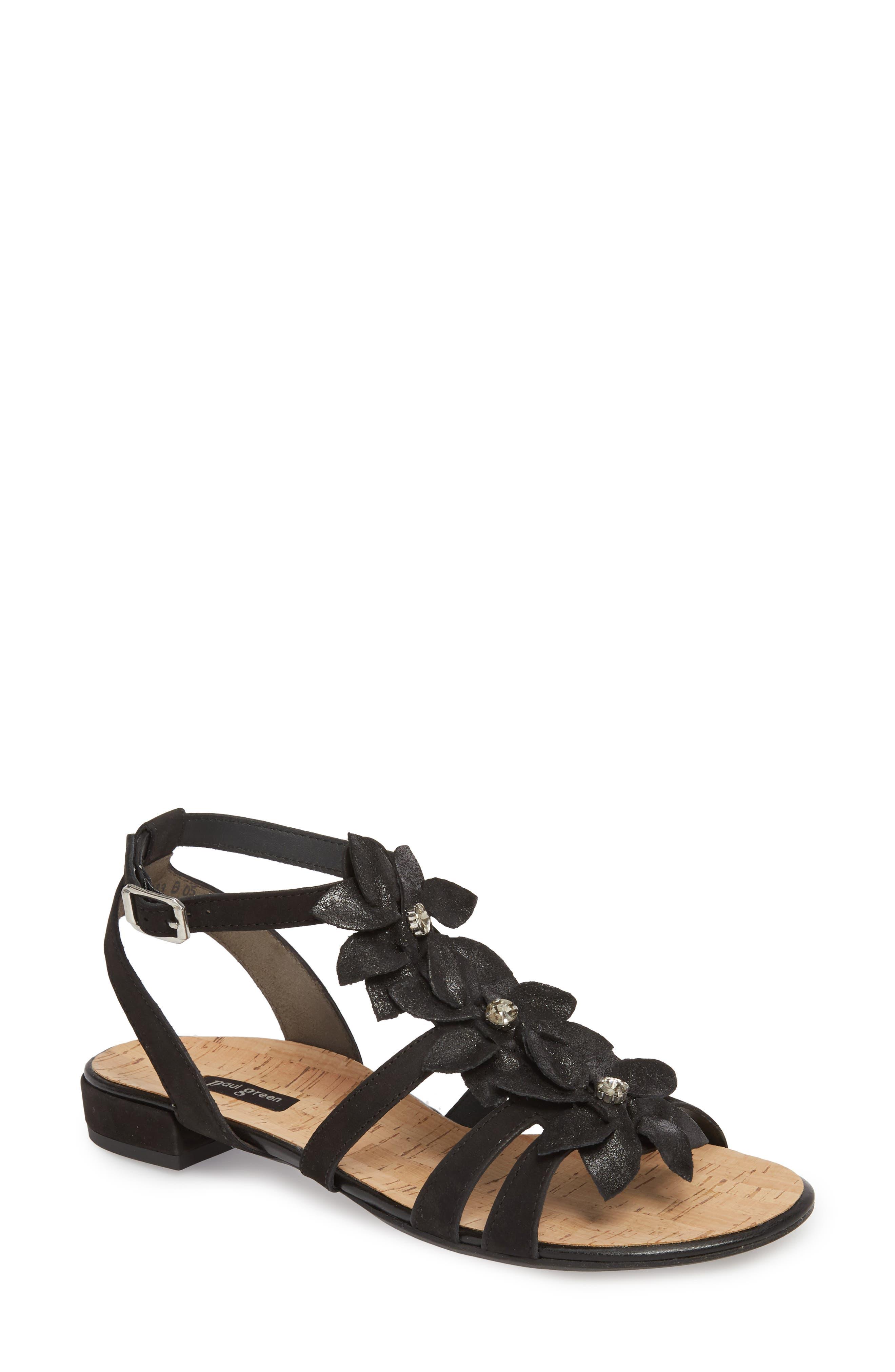 Roma Sandal,                             Main thumbnail 1, color,                             Black Nubuck