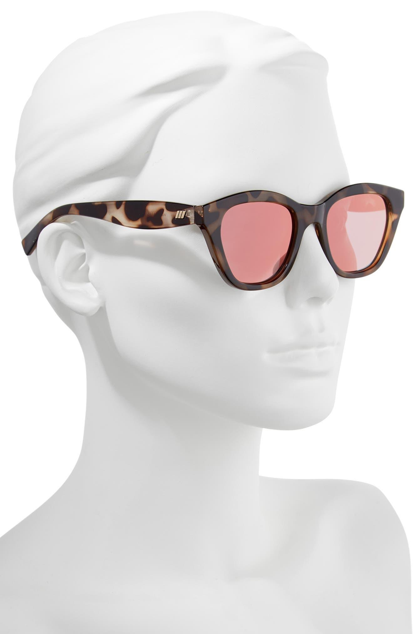 Wannabae 49mm Angular Sunglasses,                             Alternate thumbnail 2, color,                             Volcanic Tort