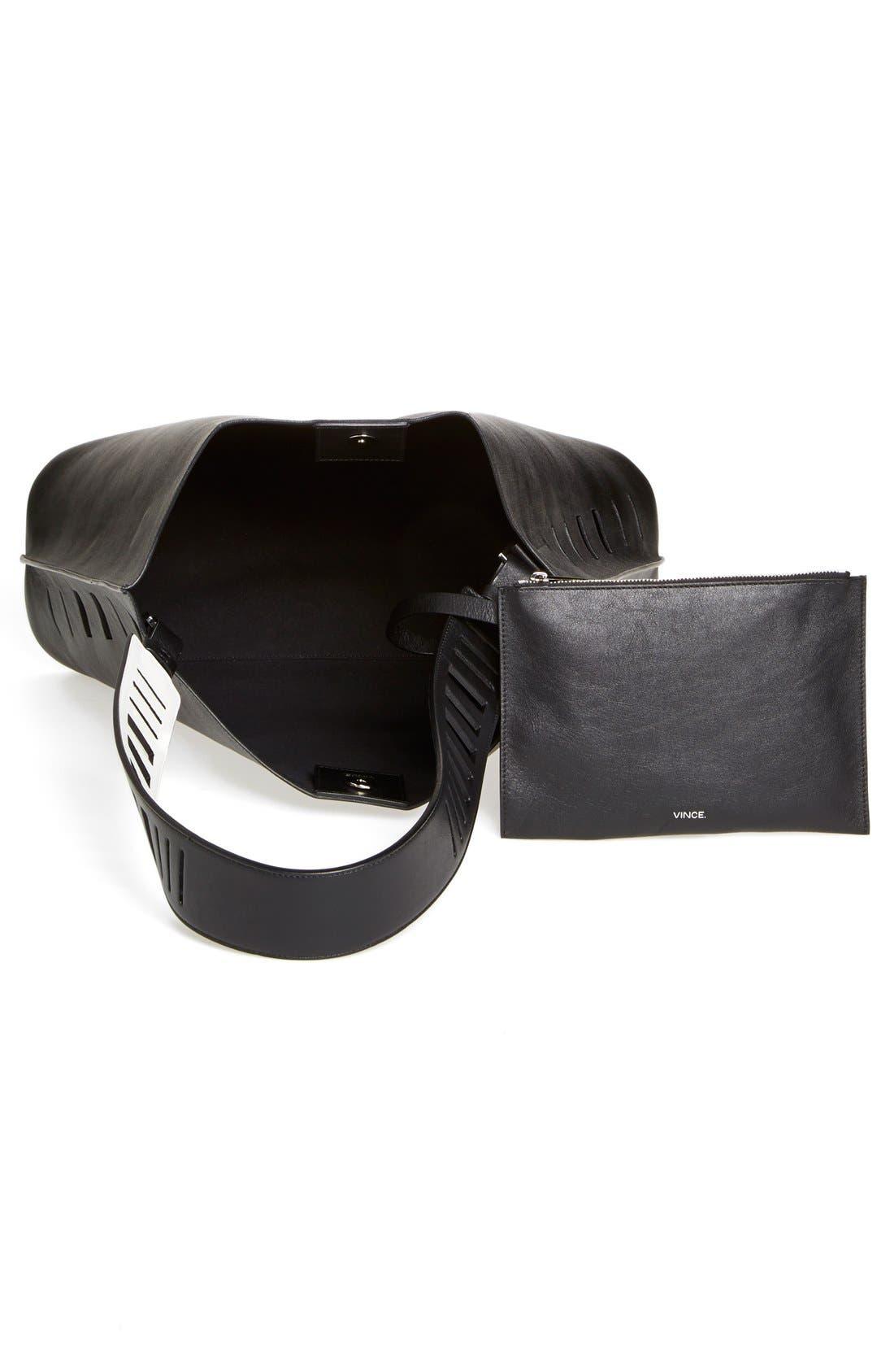 Alternate Image 3  - Vince 'Medium' Cutout Leather Hobo