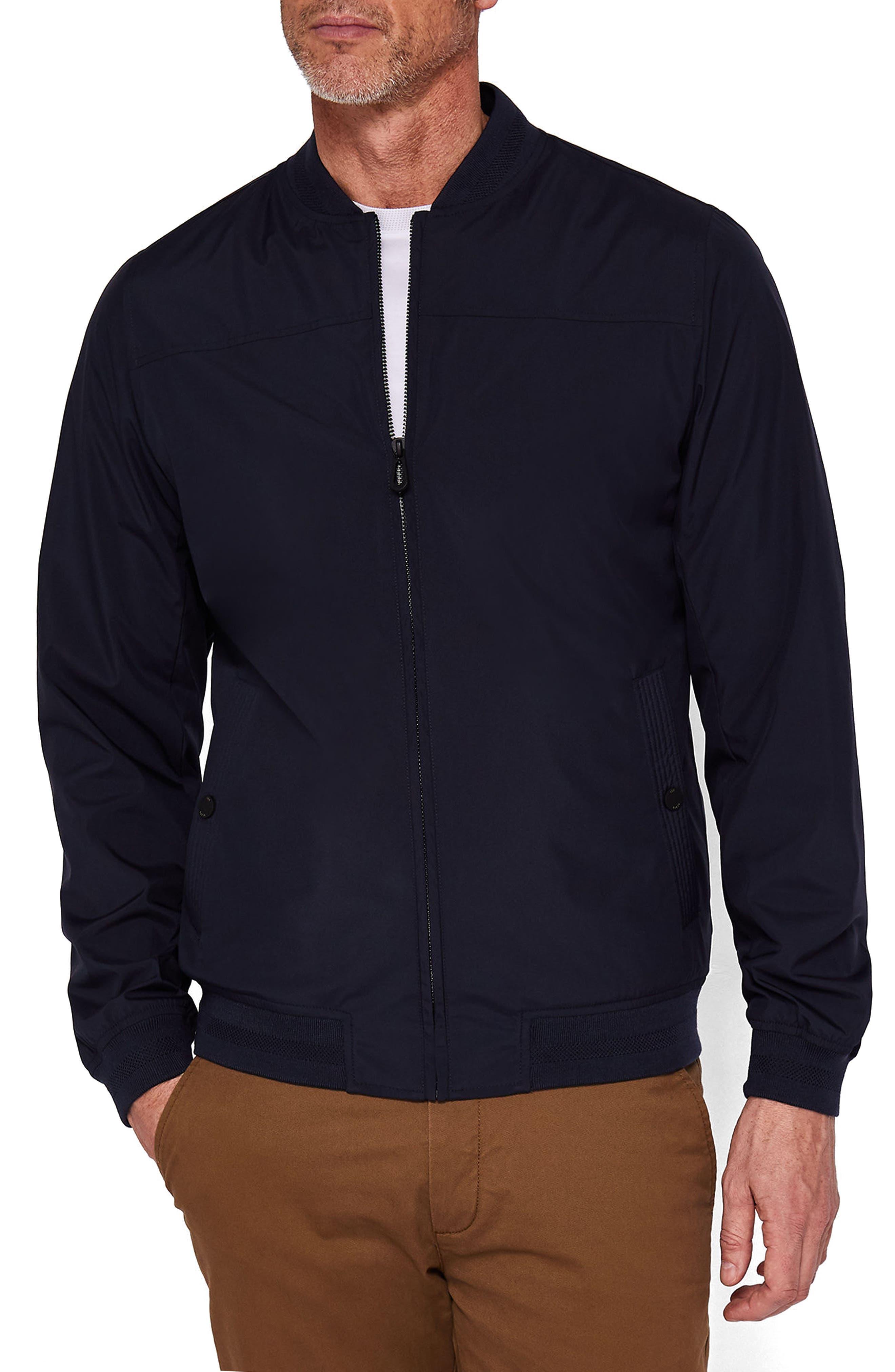Ohtatt Bomber Jacket,                         Main,                         color, Navy