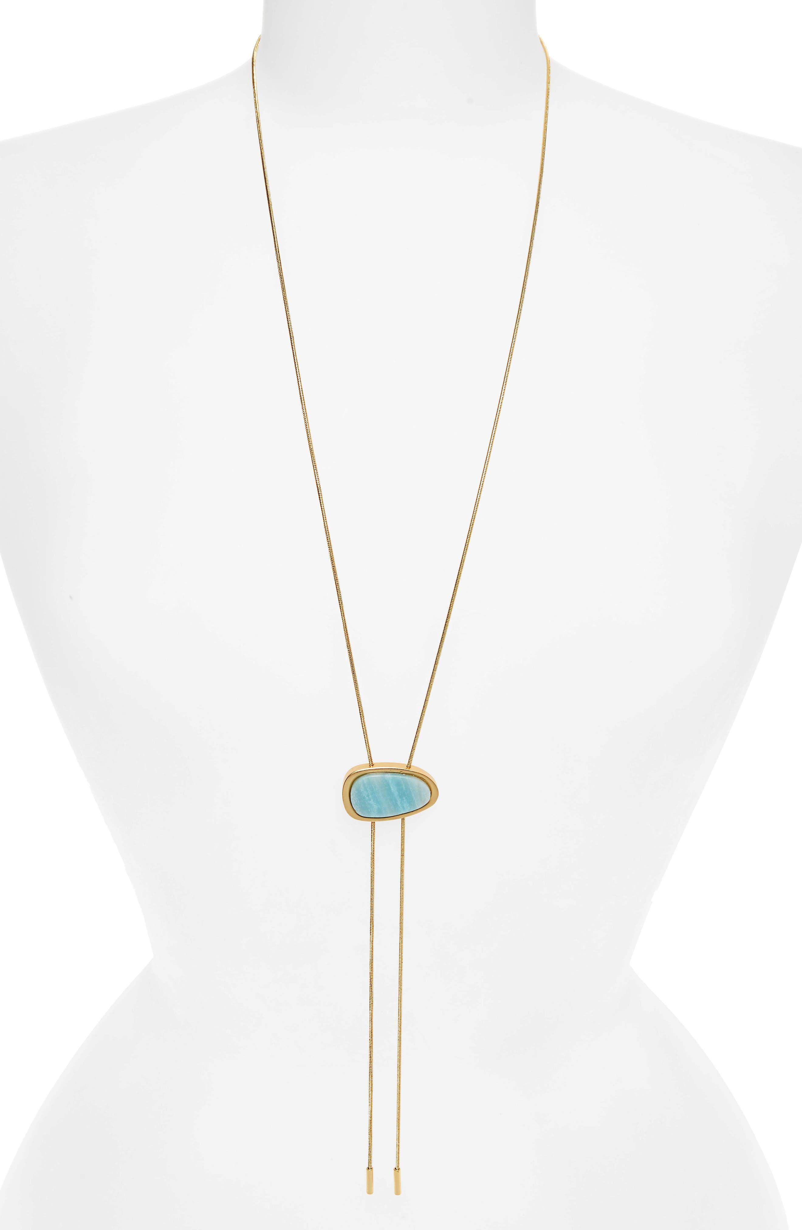 Bolo Necklace,                         Main,                         color, Amazonite