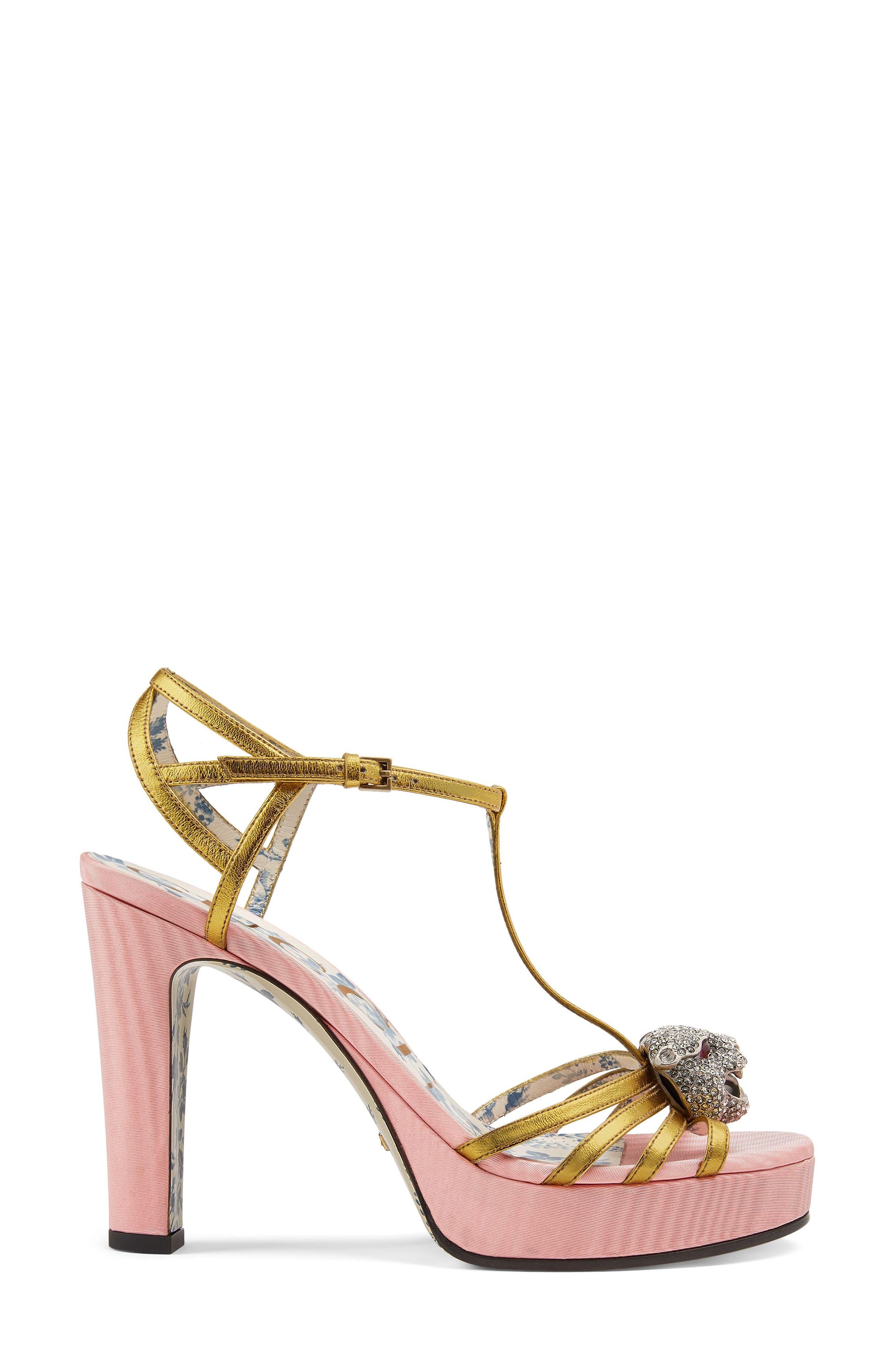 Alternate Image 2  - Gucci Elias Crystal Tiger T-Strap Sandal (Women)