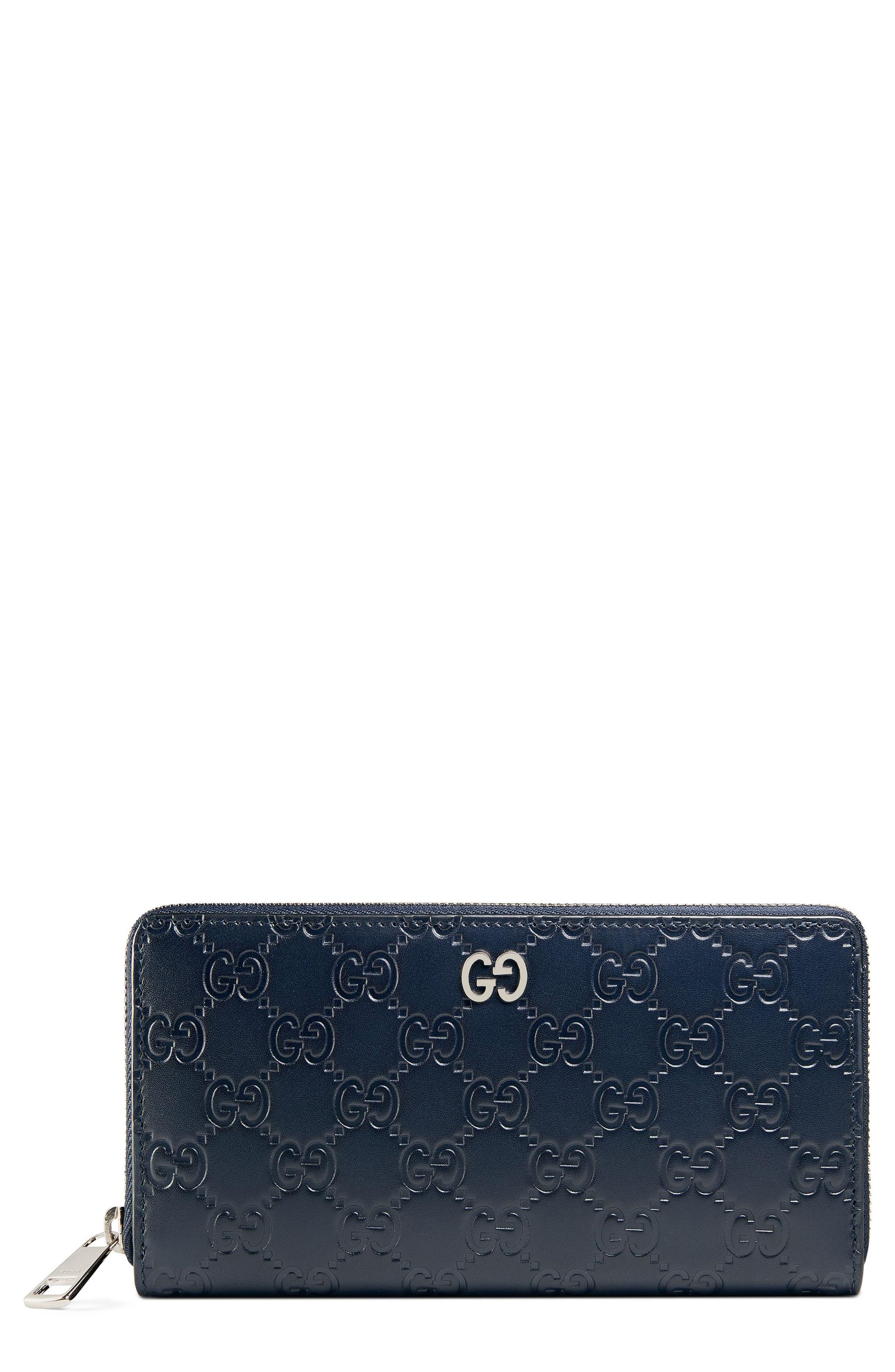 Dorian Leather Wallet,                         Main,                         color, Blue
