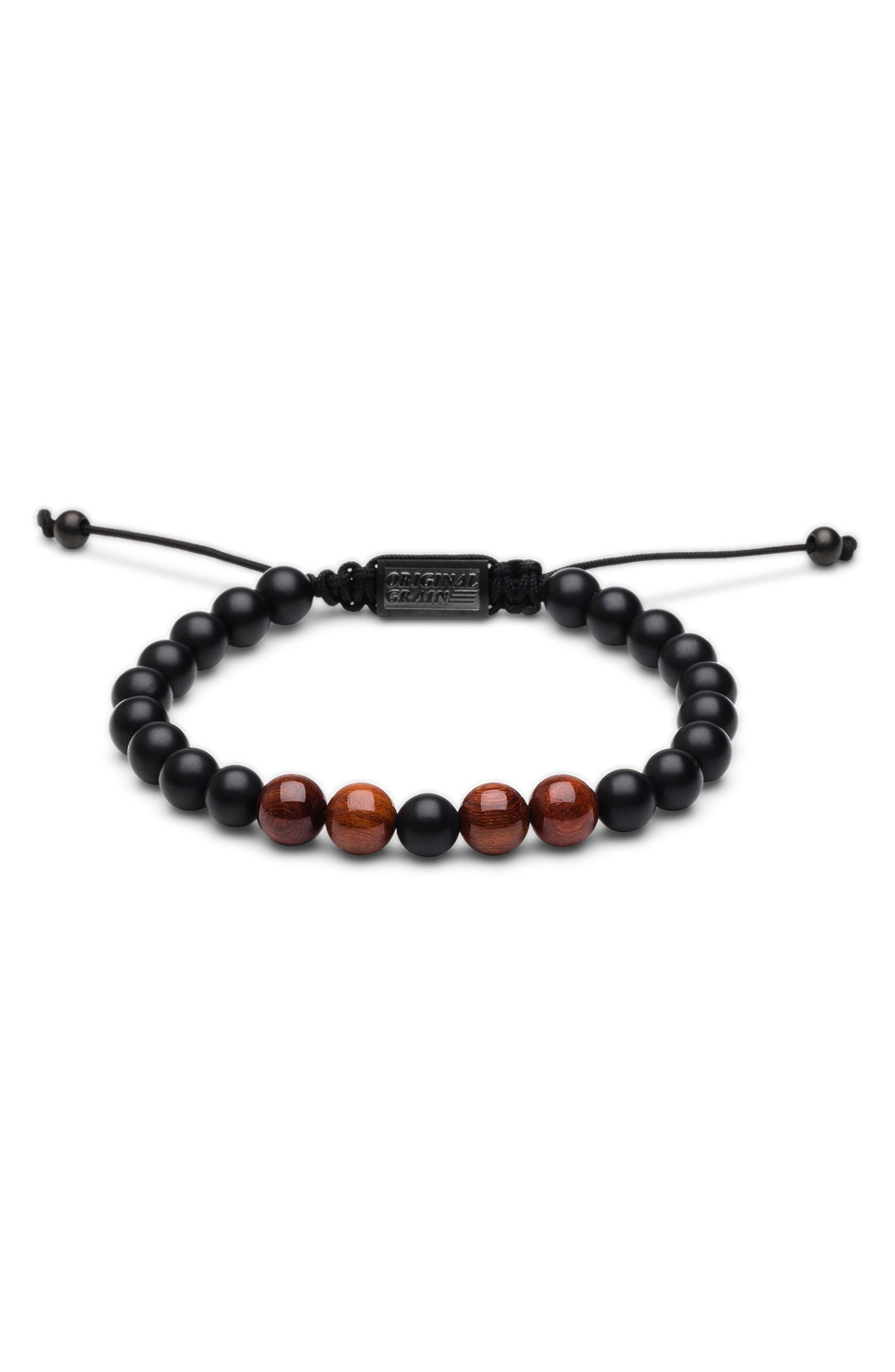 Bead Bracelet,                             Main thumbnail 1, color,                             Rosewood Onyx