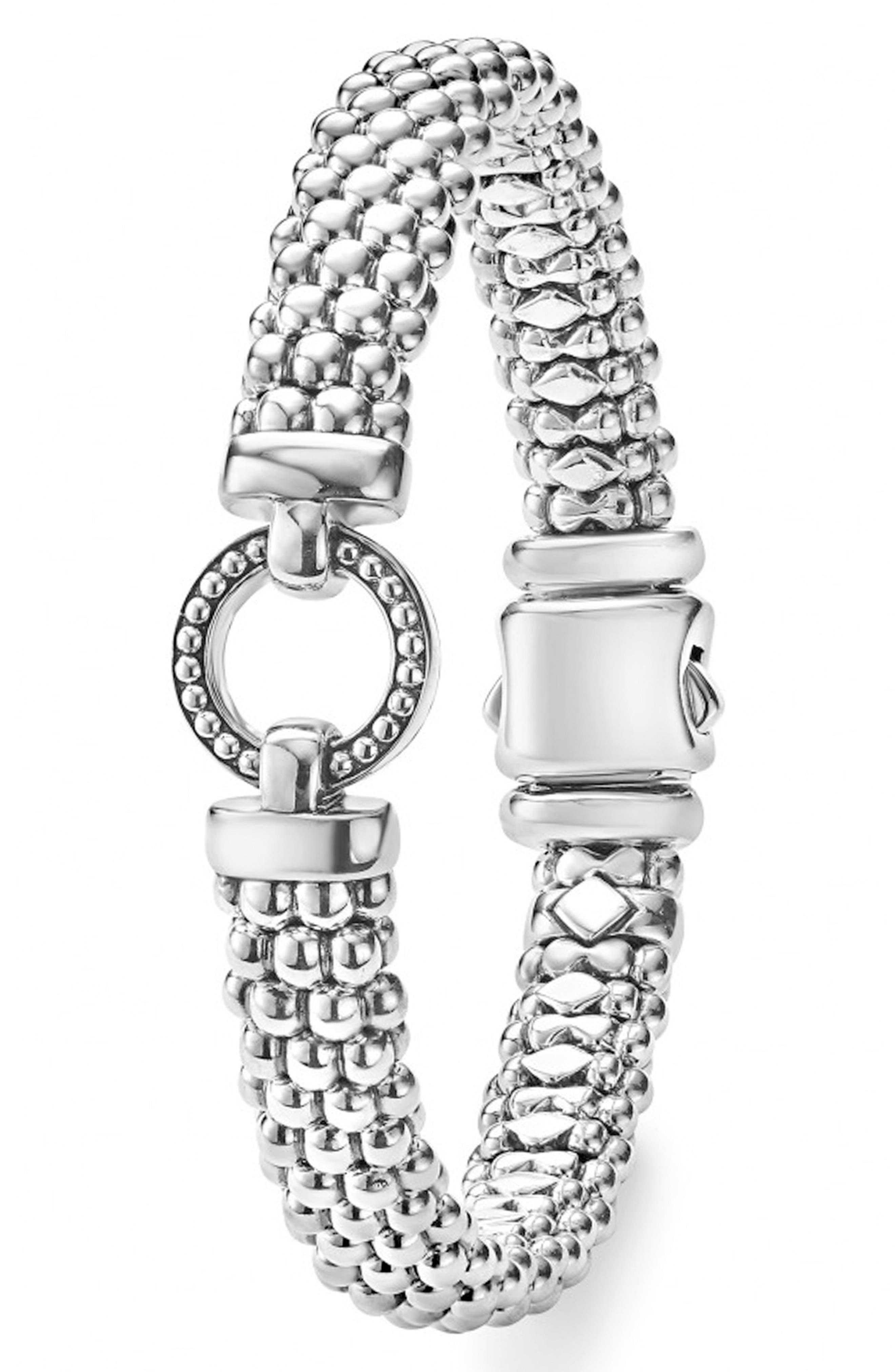'Enso' Caviar<sup>™</sup> Rope Bracelet,                             Alternate thumbnail 2, color,                             Silver