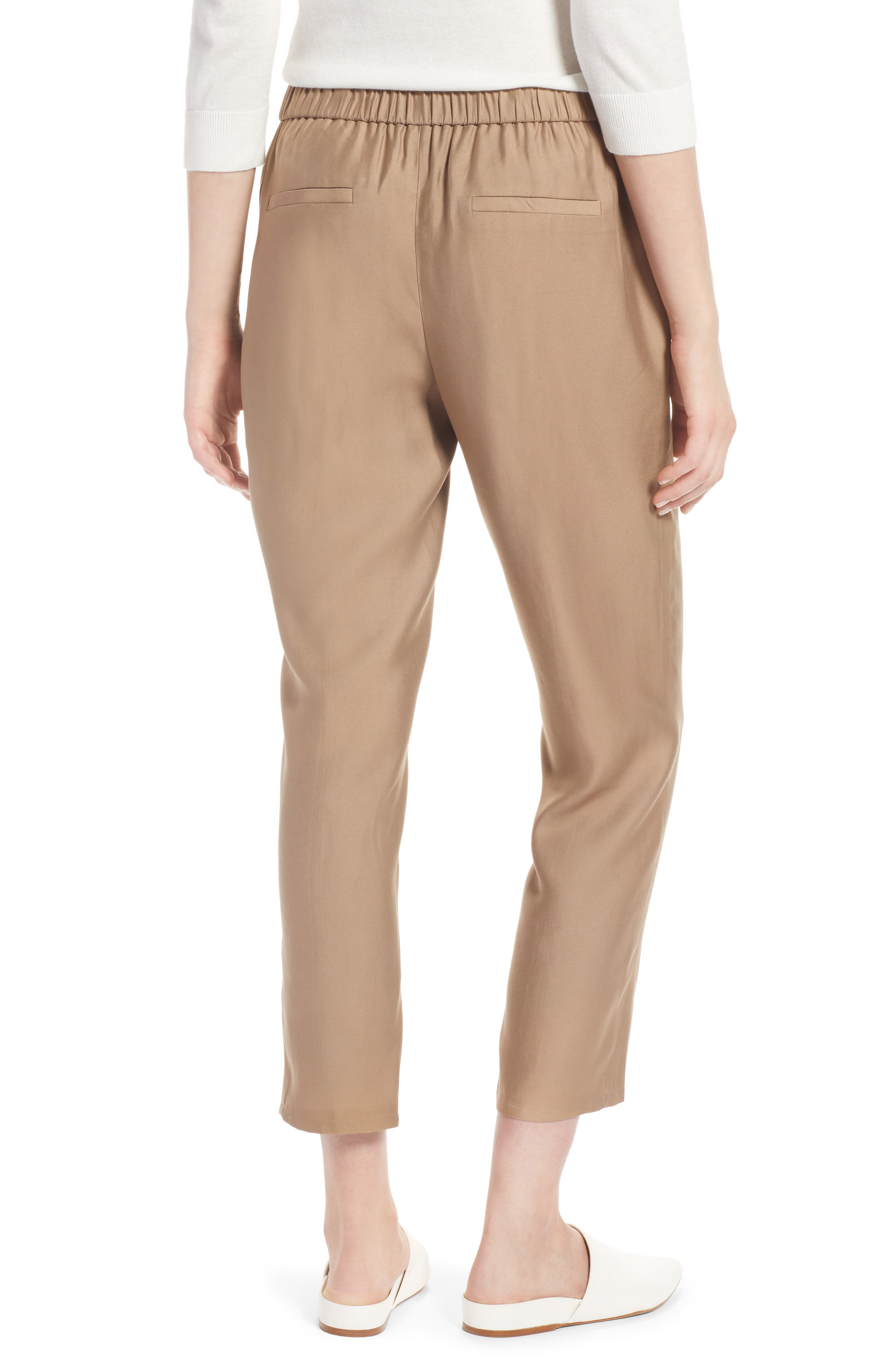 Pull-On Ankle Pants,                             Alternate thumbnail 2, color,                             Tan Greige