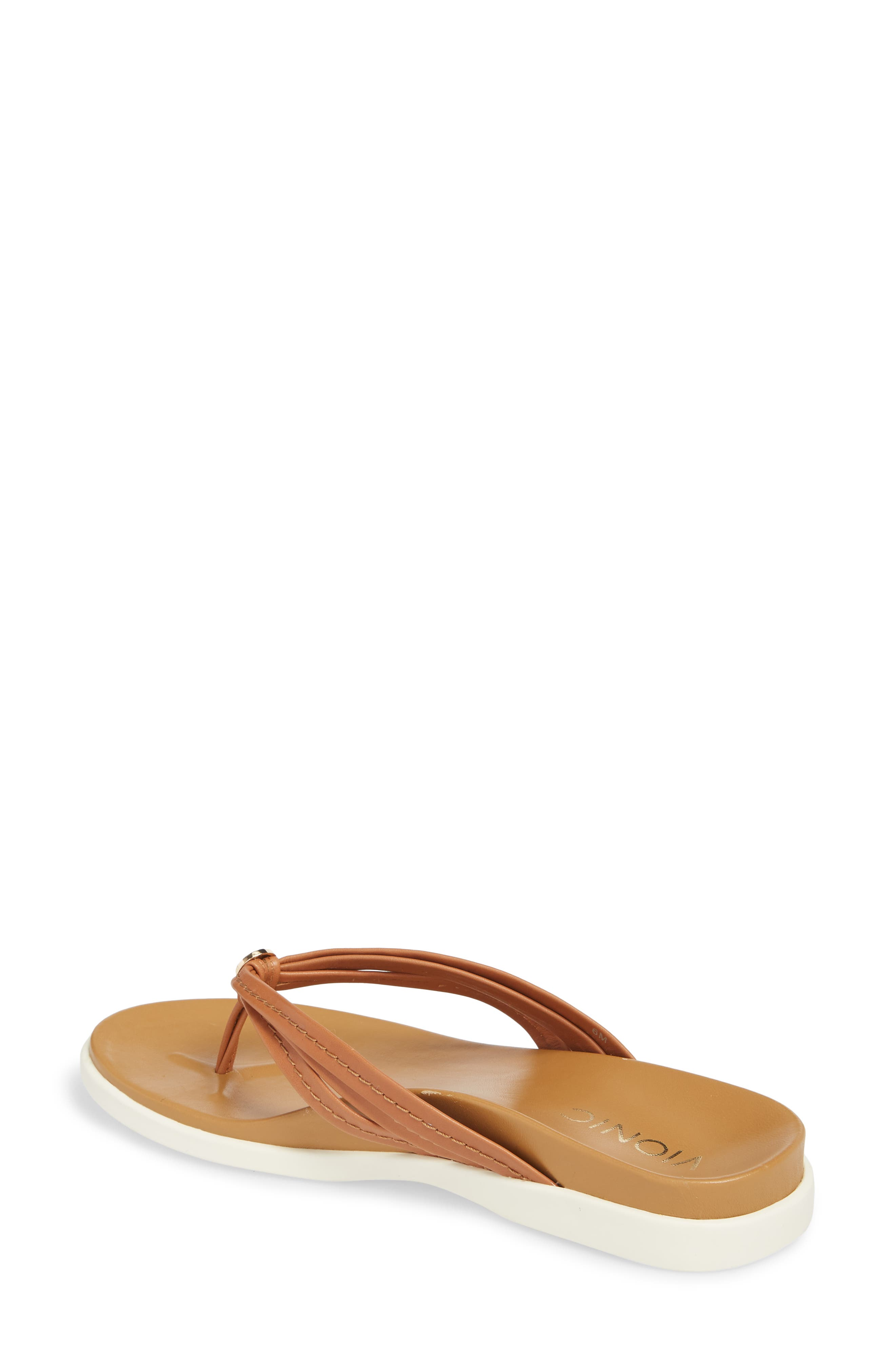 Catalina Flip Flop,                             Alternate thumbnail 2, color,                             Tan Leather