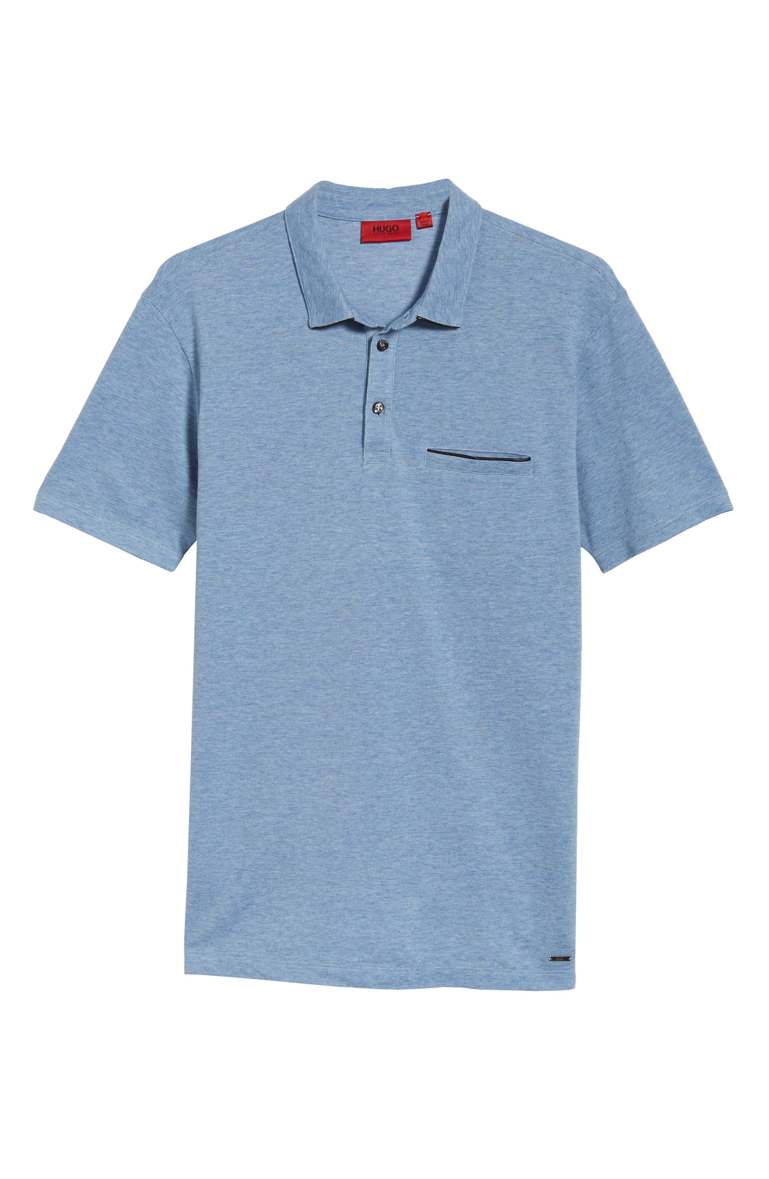 Darrow Cotton Polo Shirt,                             Alternate thumbnail 6, color,                             Blue