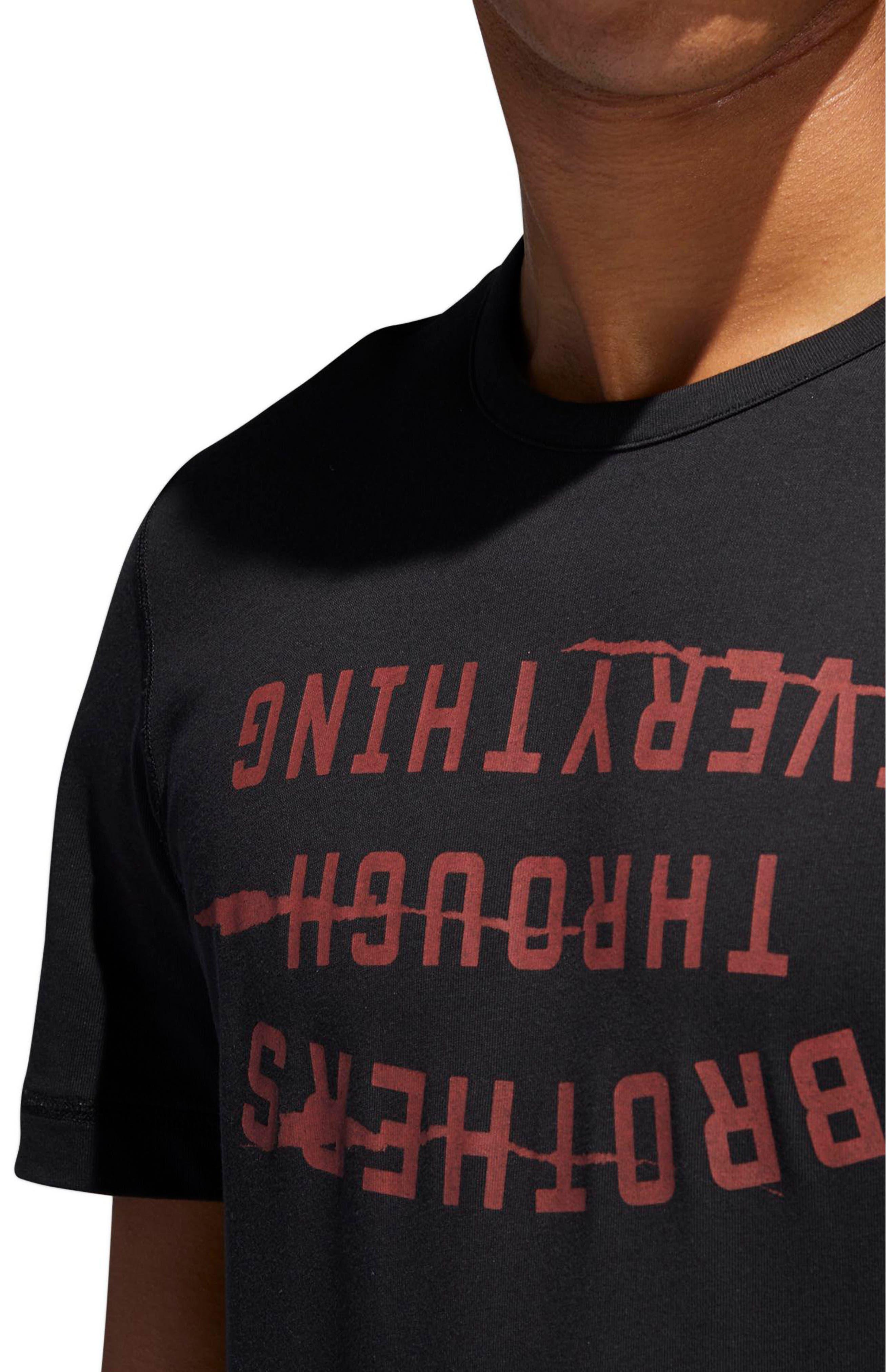 Harden Brand Slogan T-Shirt,                             Alternate thumbnail 5, color,                             Black