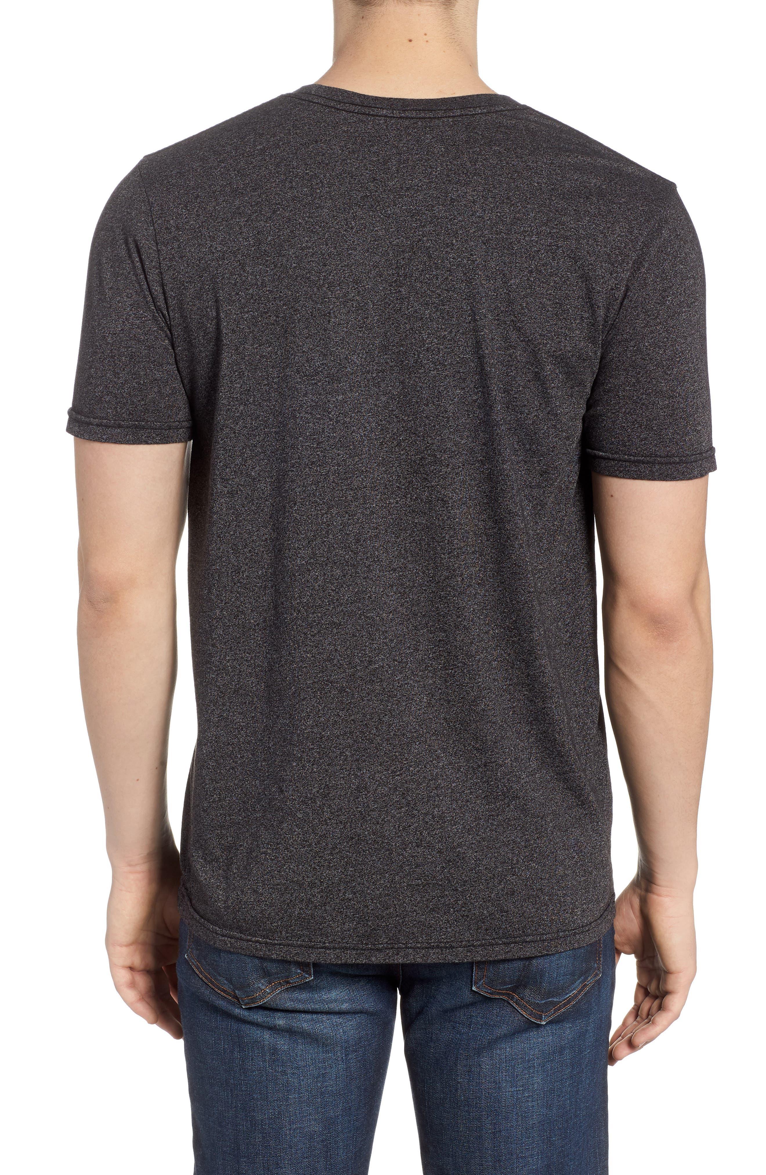 Ascender Mock Twist T-Shirt,                             Alternate thumbnail 2, color,                             Black Heather
