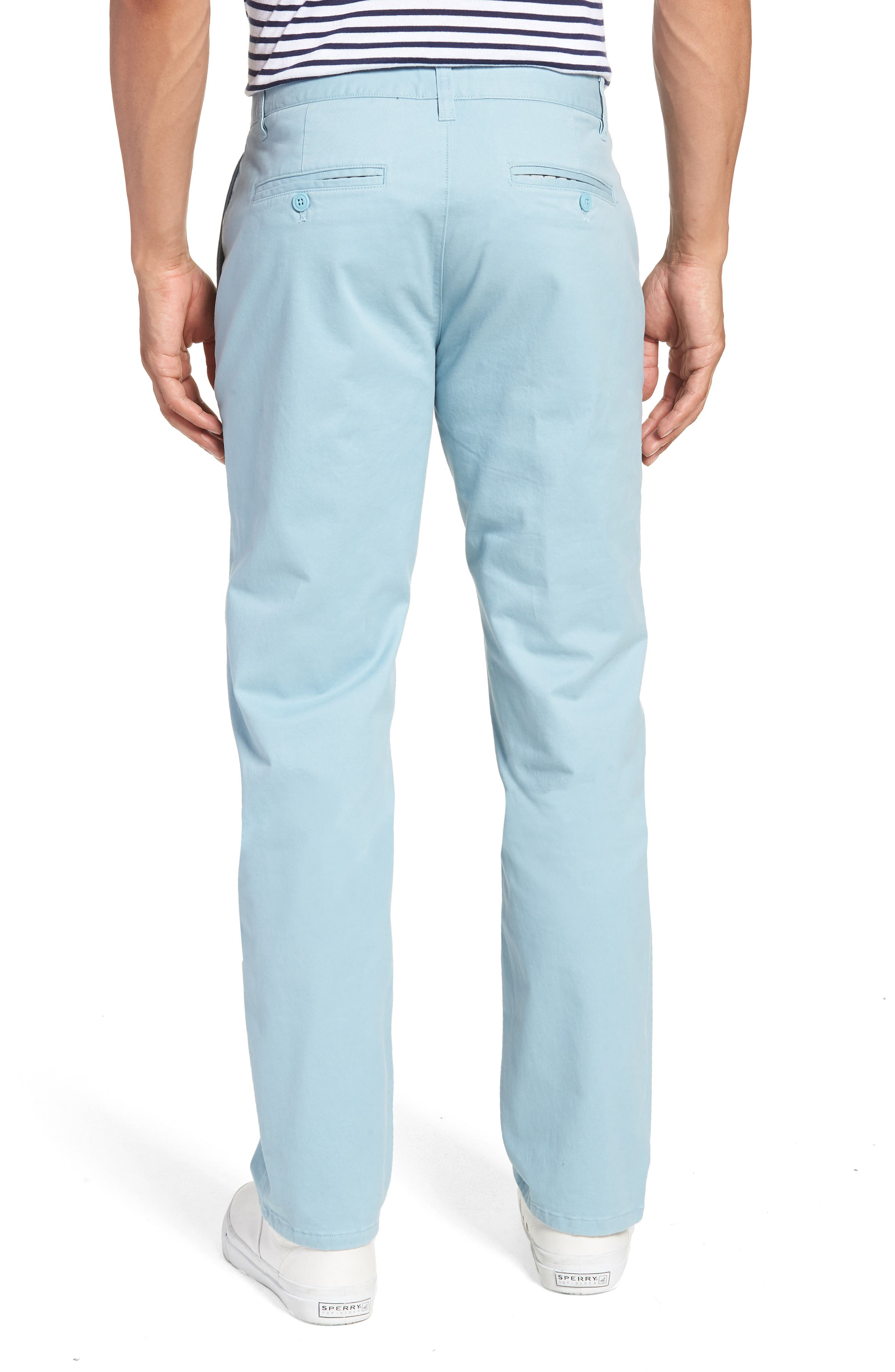 Slim Fit Stretch Washed Chinos,                             Alternate thumbnail 2, color,                             Yucca Blue