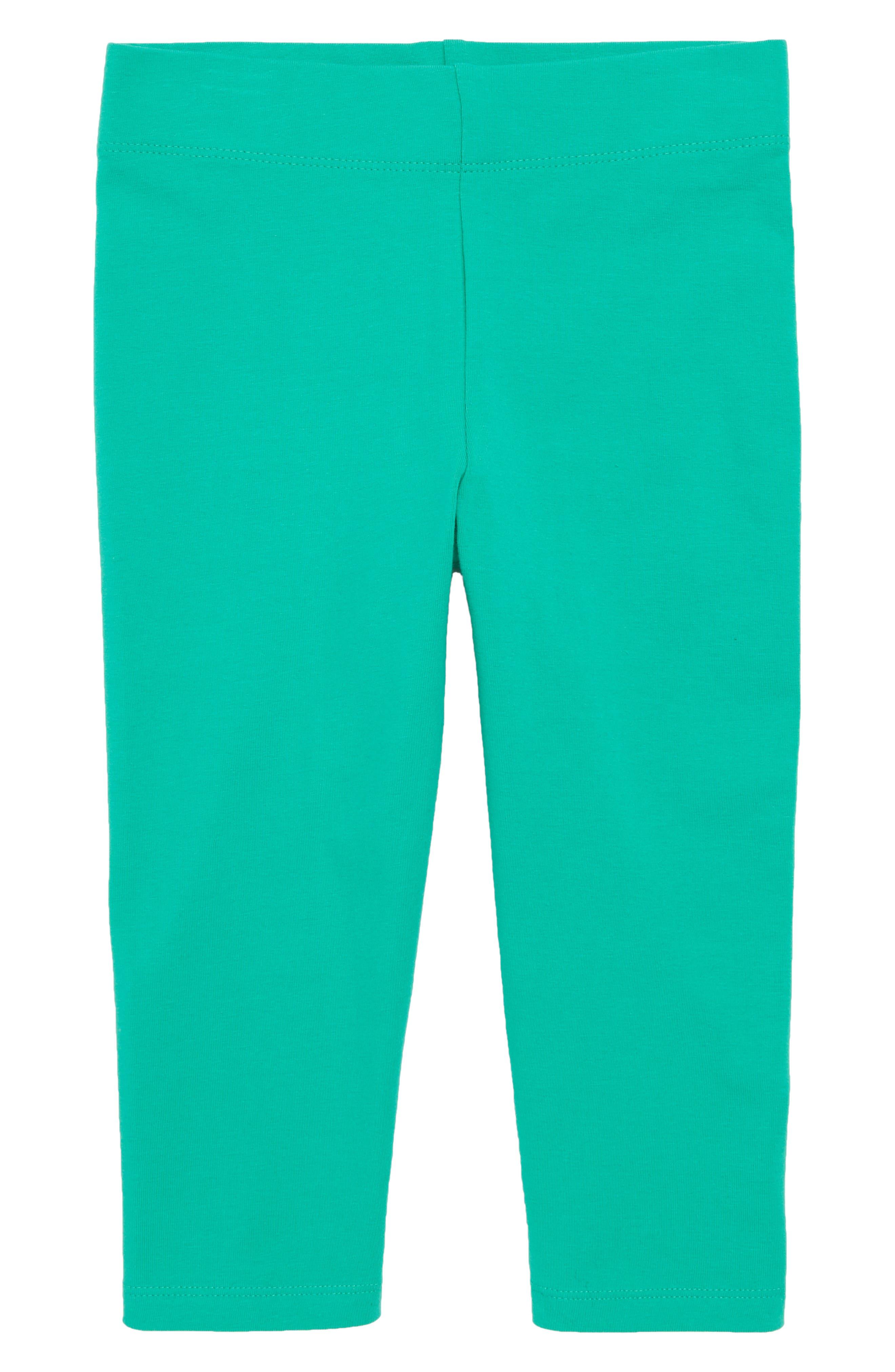 Crop Leggings,                         Main,                         color, Deep Green