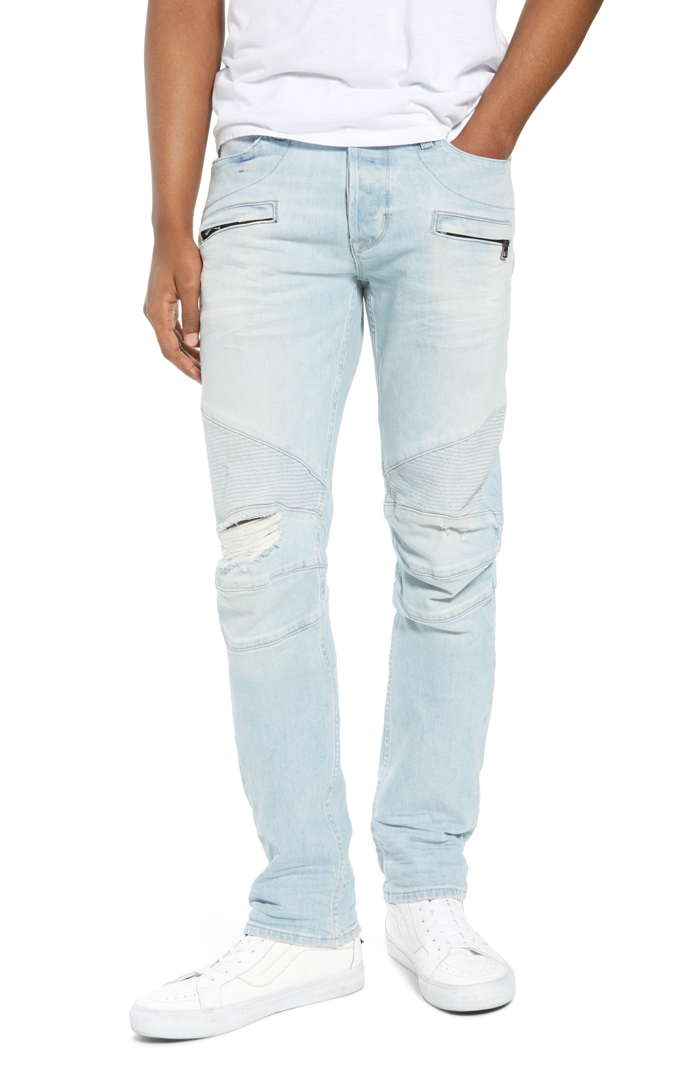 Hudson Jeans Blinder Biker Skinny Fit Jeans (Rewind Destructed)