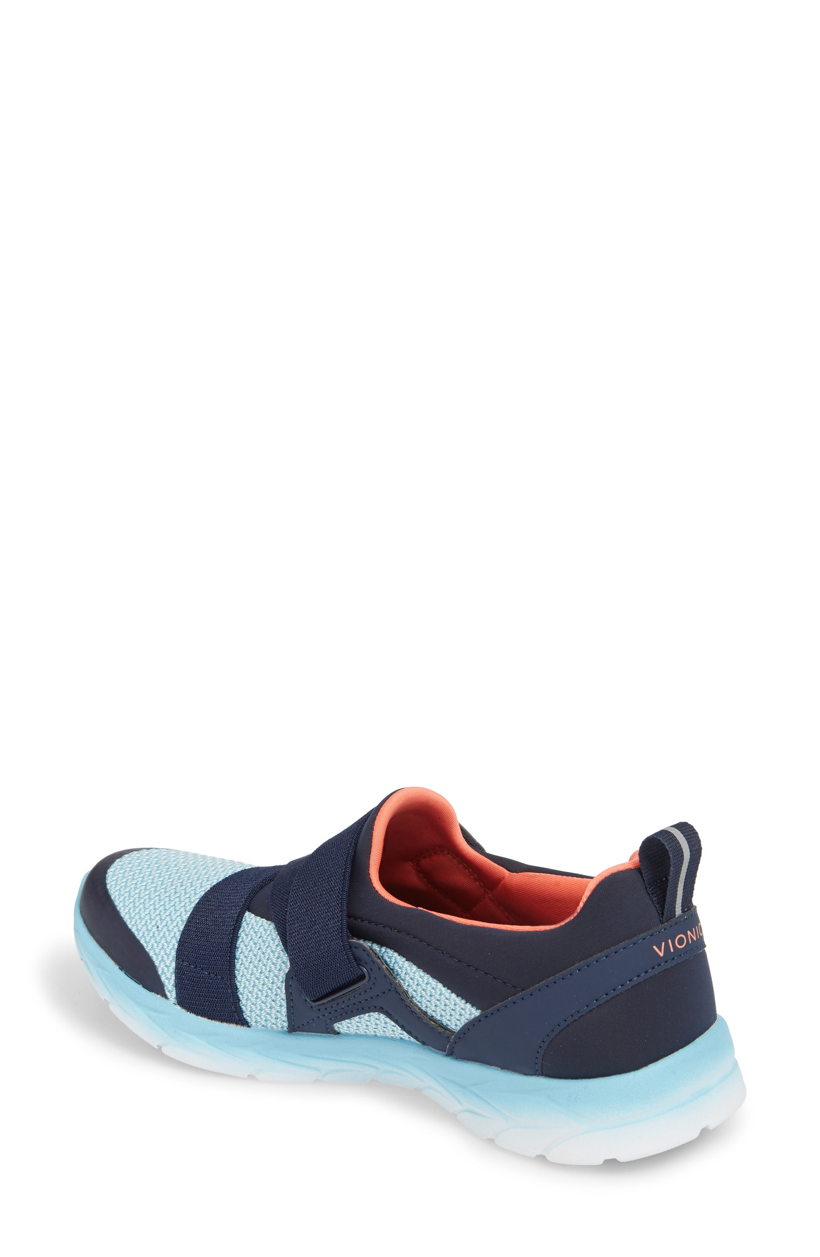 Dash Sneaker,                             Alternate thumbnail 2, color,                             Navy/ Light Blue Fabric
