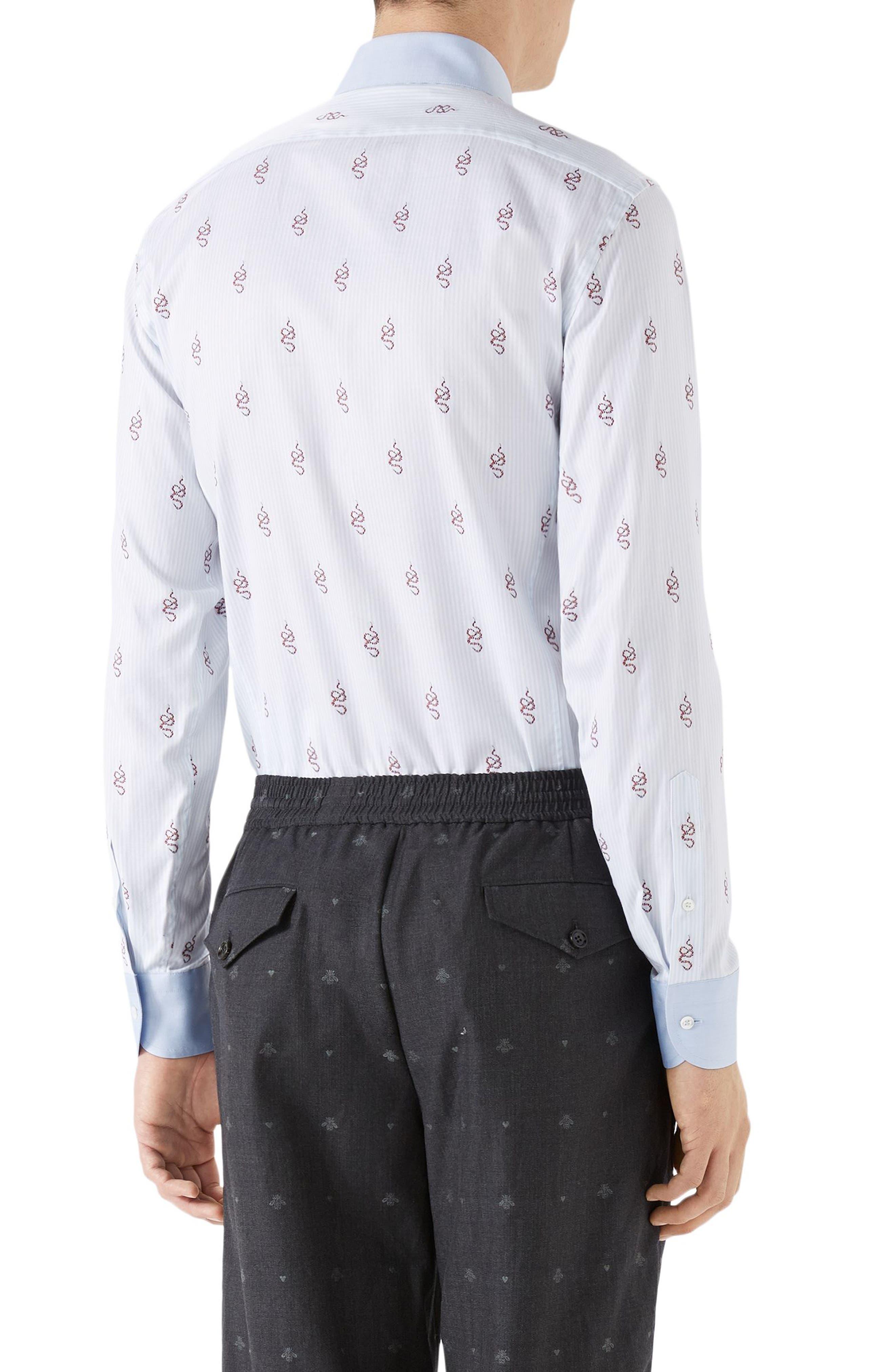Kingsnake Fil Coupé Sport Shirt,                             Alternate thumbnail 2, color,                             Sky Blue