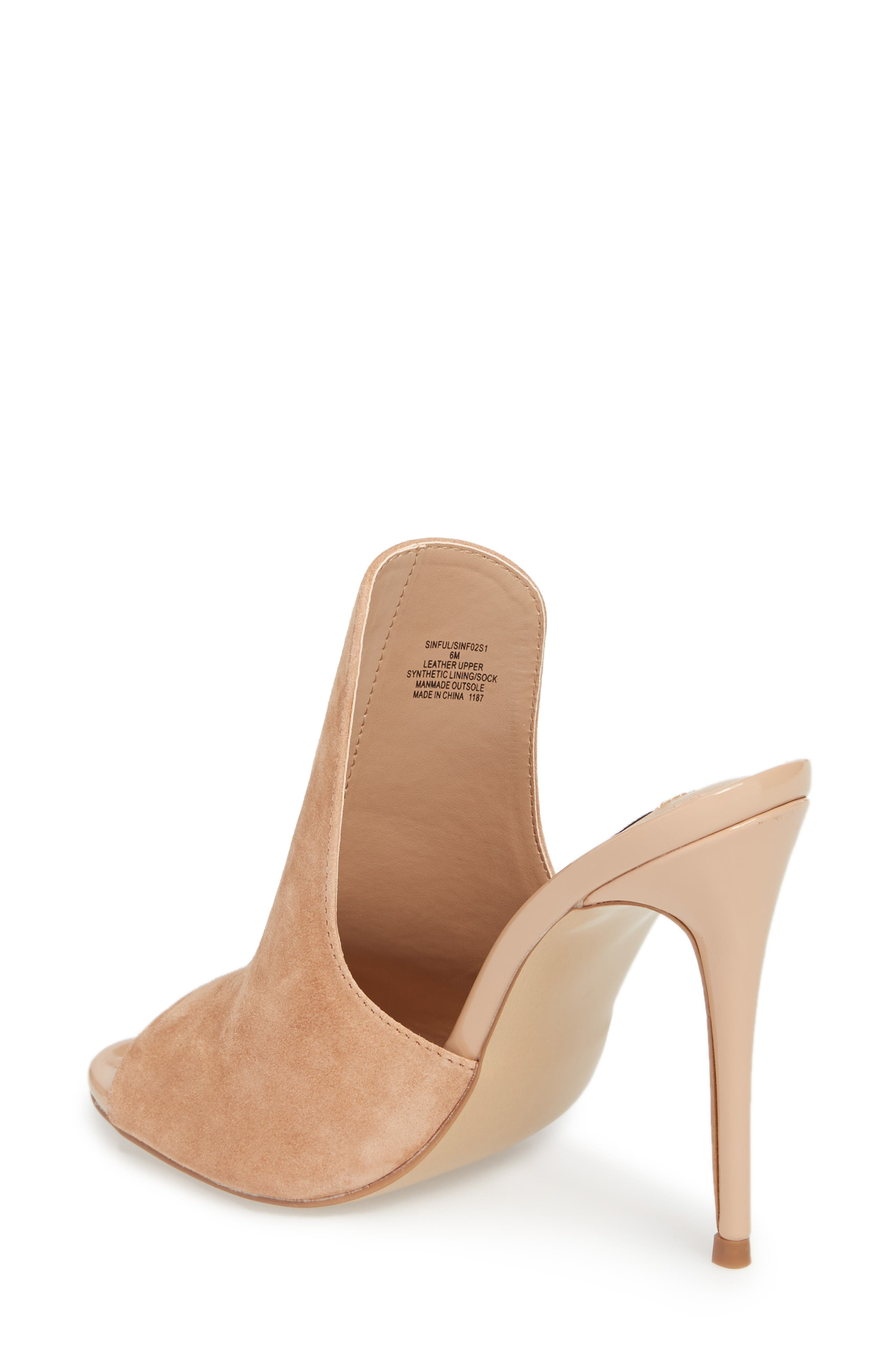 Sinful Sandal,                             Alternate thumbnail 2, color,                             Nude Suede