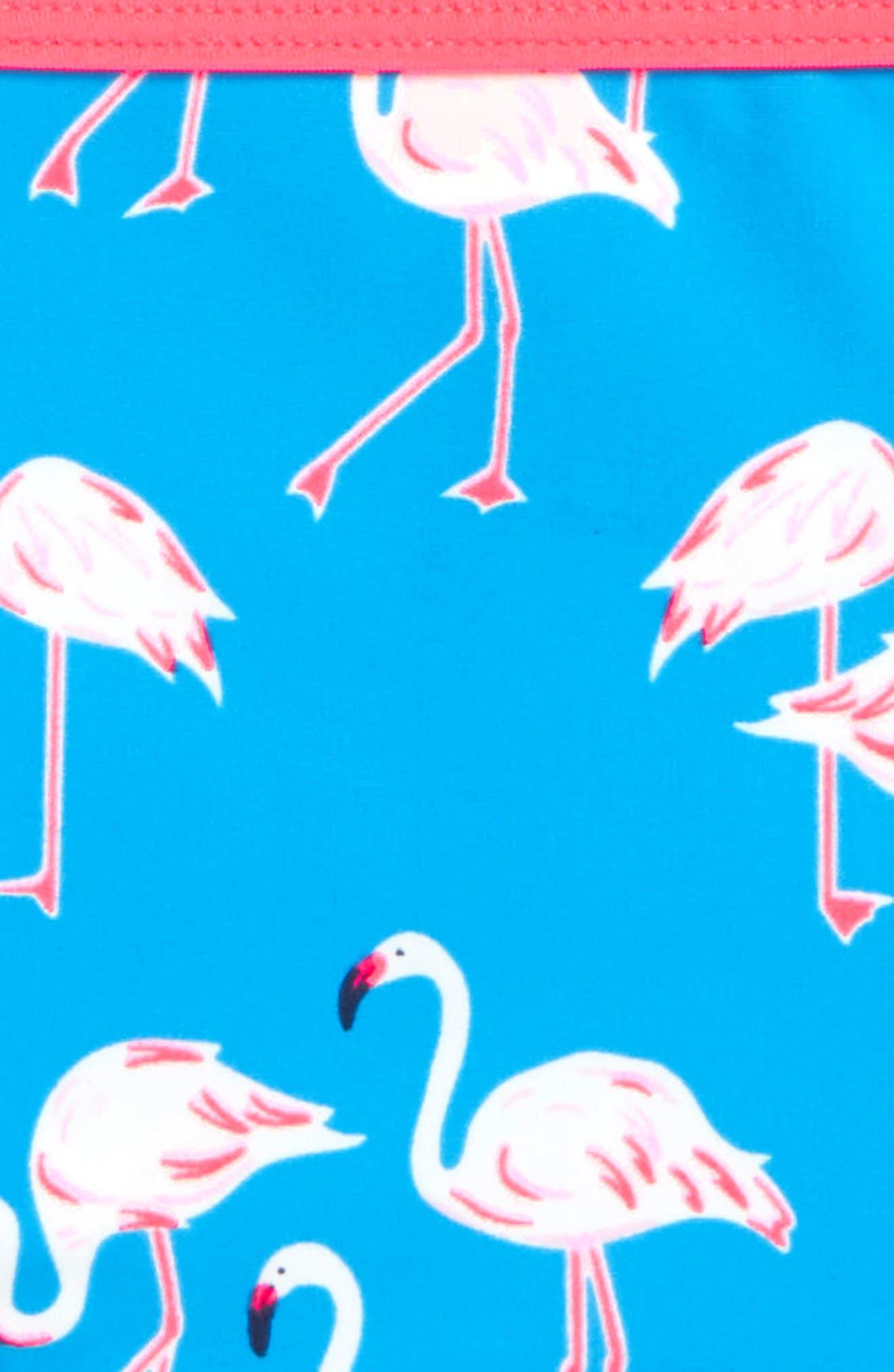 Two-Piece Wrap Swimsuit,                             Alternate thumbnail 2, color,                             Blue Flamingos