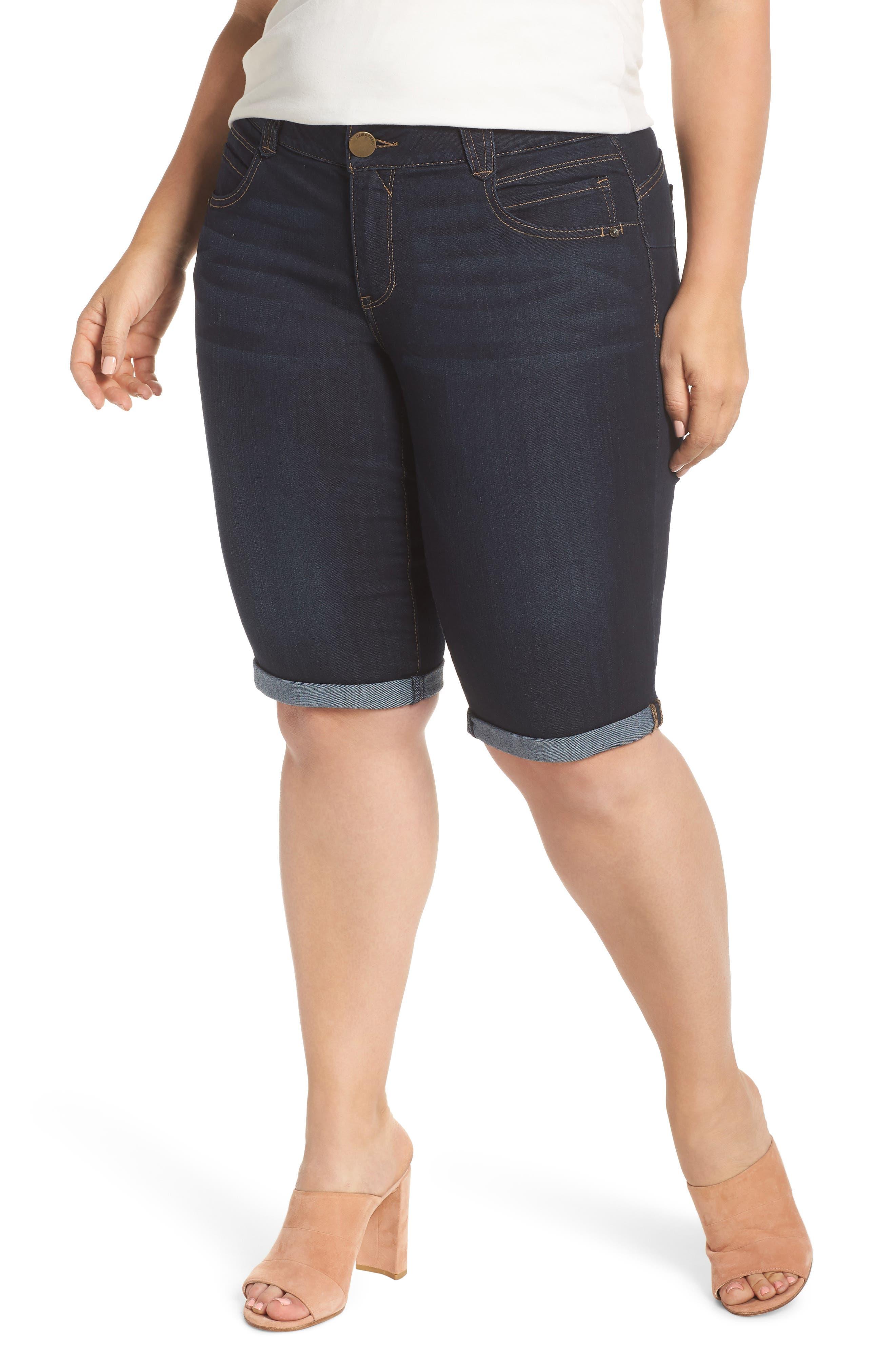 Stretch Denim Bermuda Shorts,                         Main,                         color, Indigo