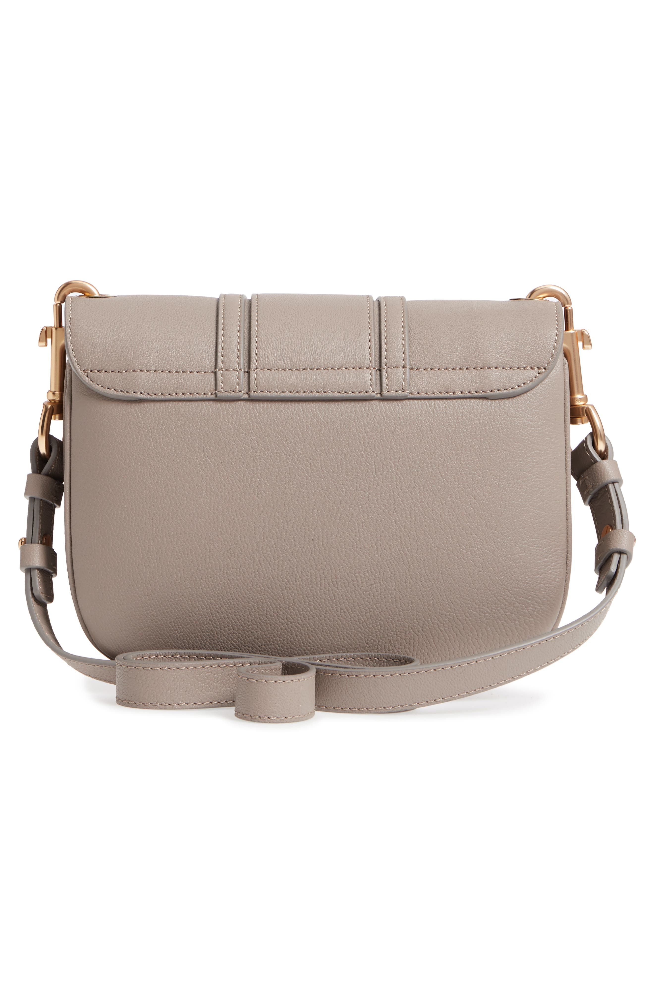 Hana Small Leather Crossbody Bag,                             Alternate thumbnail 3, color,                             Motty Grey