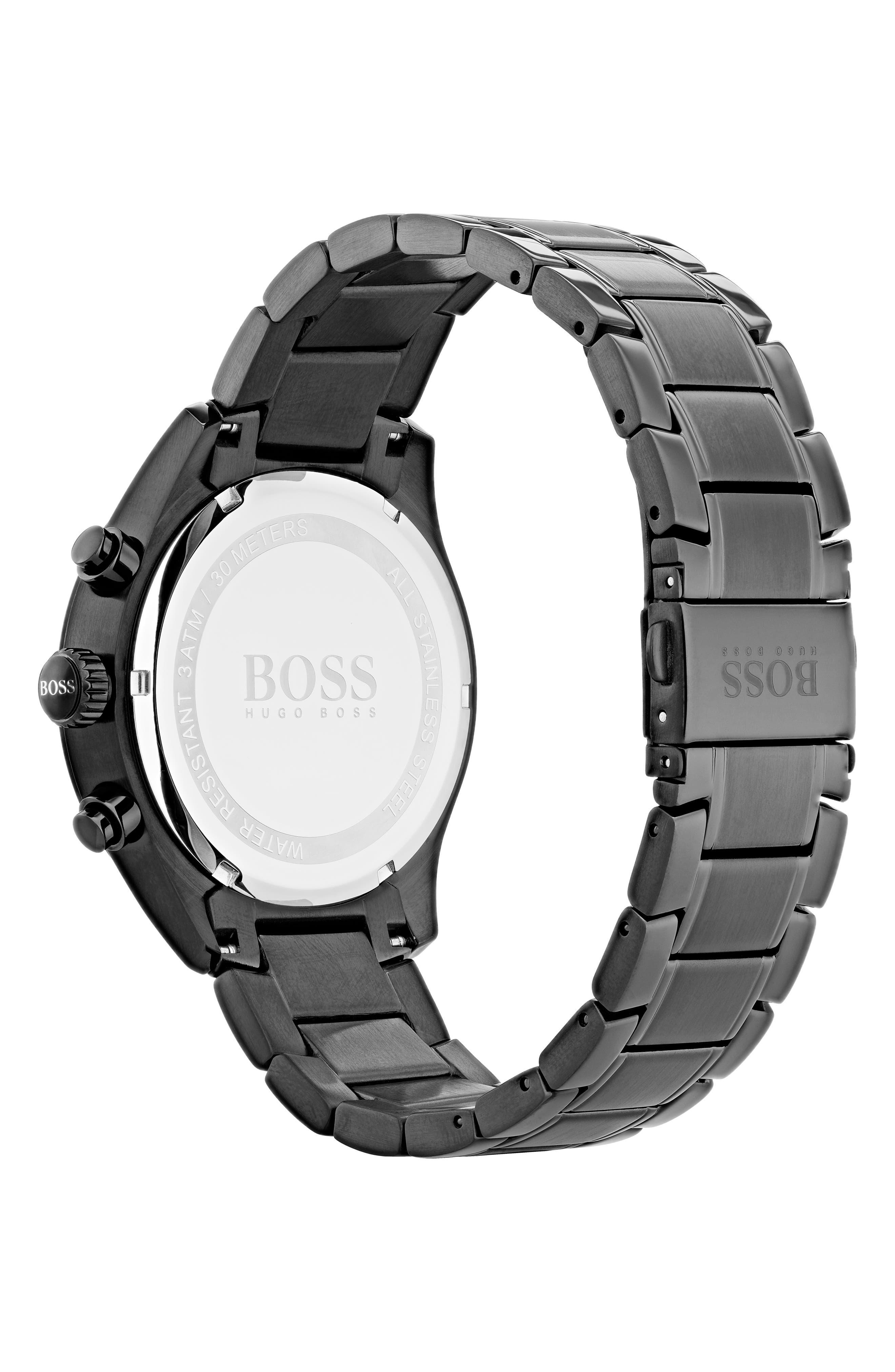 Grand Prix Chronograph Bracelet Watch, 44mm,                             Alternate thumbnail 2, color,                             Black