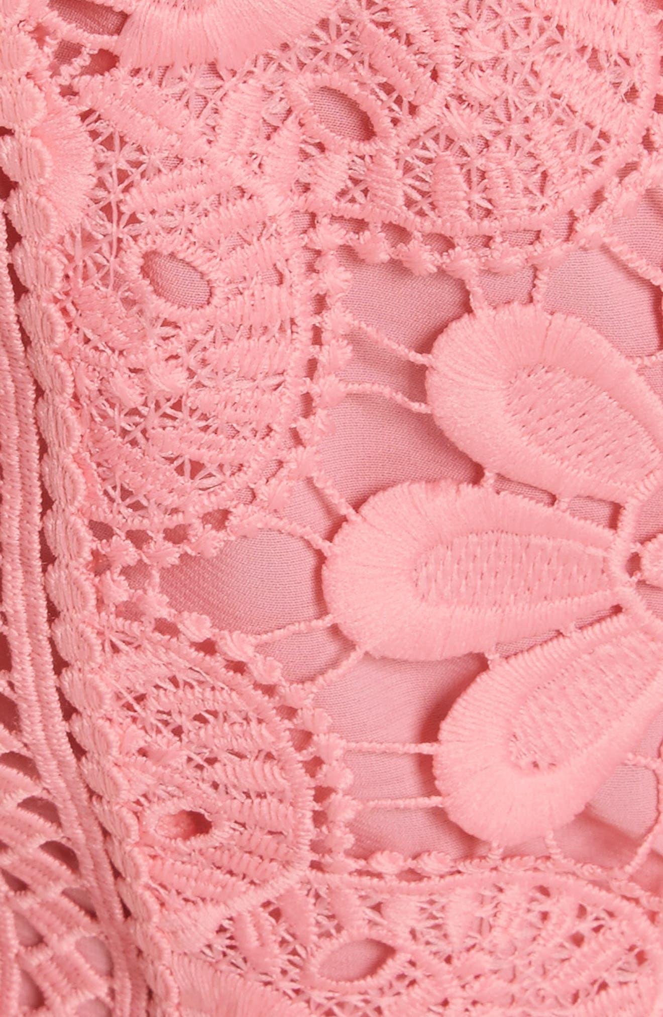 Zula Lace Minidress,                             Alternate thumbnail 5, color,                             Blossom