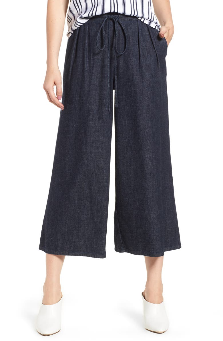 Saunter Crop Wide Leg Denim Pants