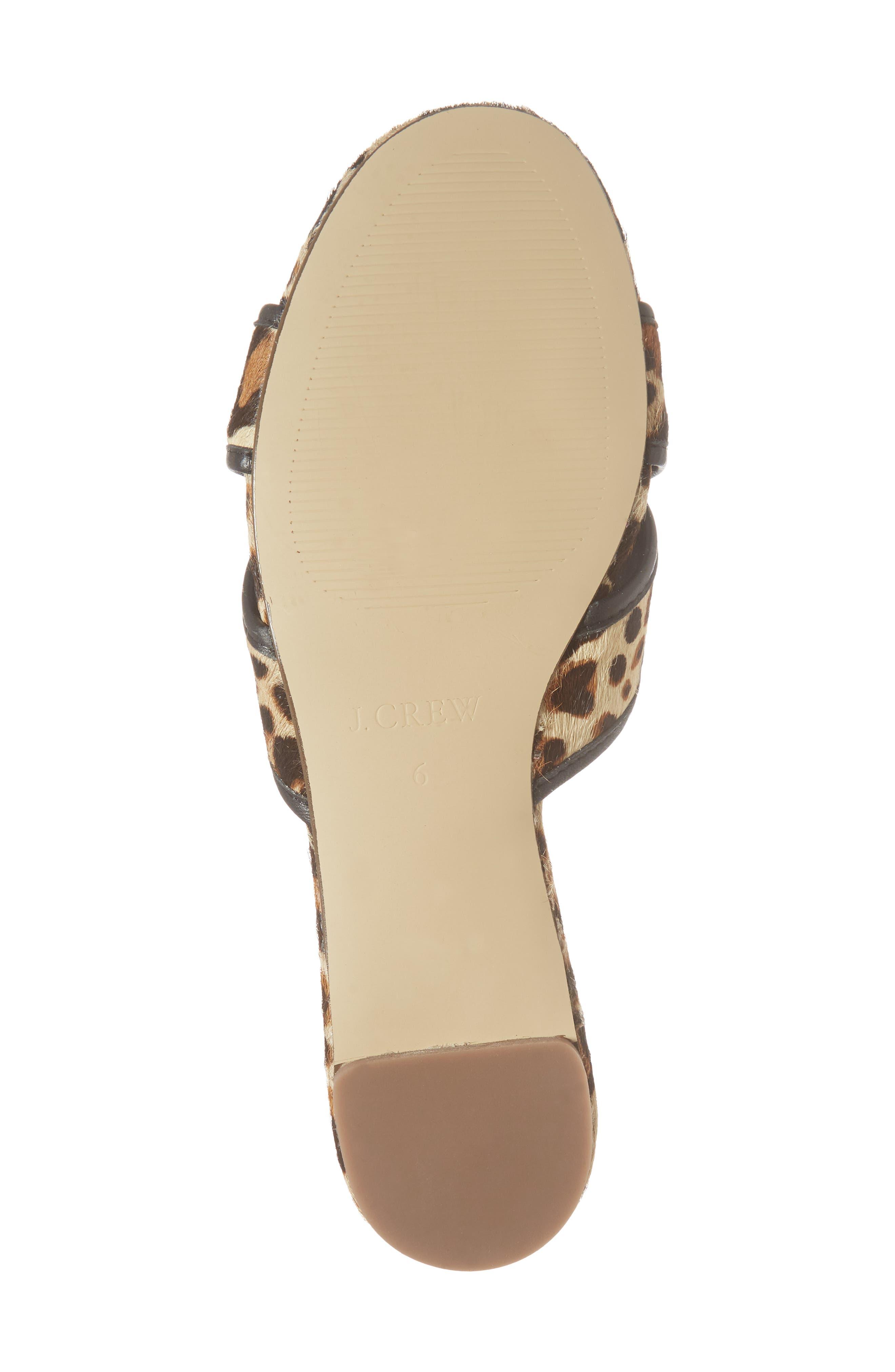 Cora Genuine Calf Hair Slide Sandal,                             Alternate thumbnail 7, color,                             Chocolate Sepia