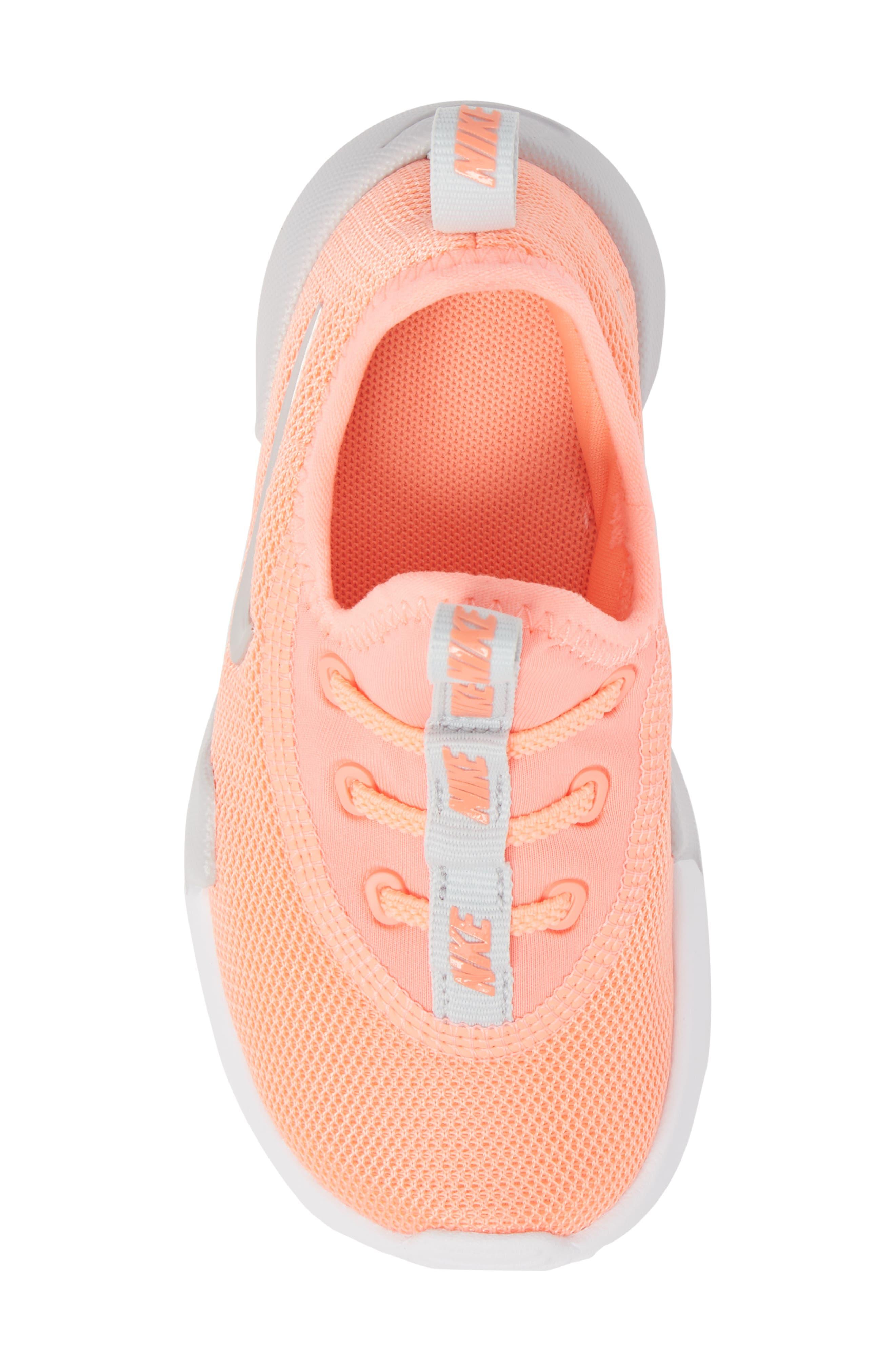 Ashin Modern Sock Knit Sneaker,                             Alternate thumbnail 5, color,                             Atomic Pink/ Metallic Silver