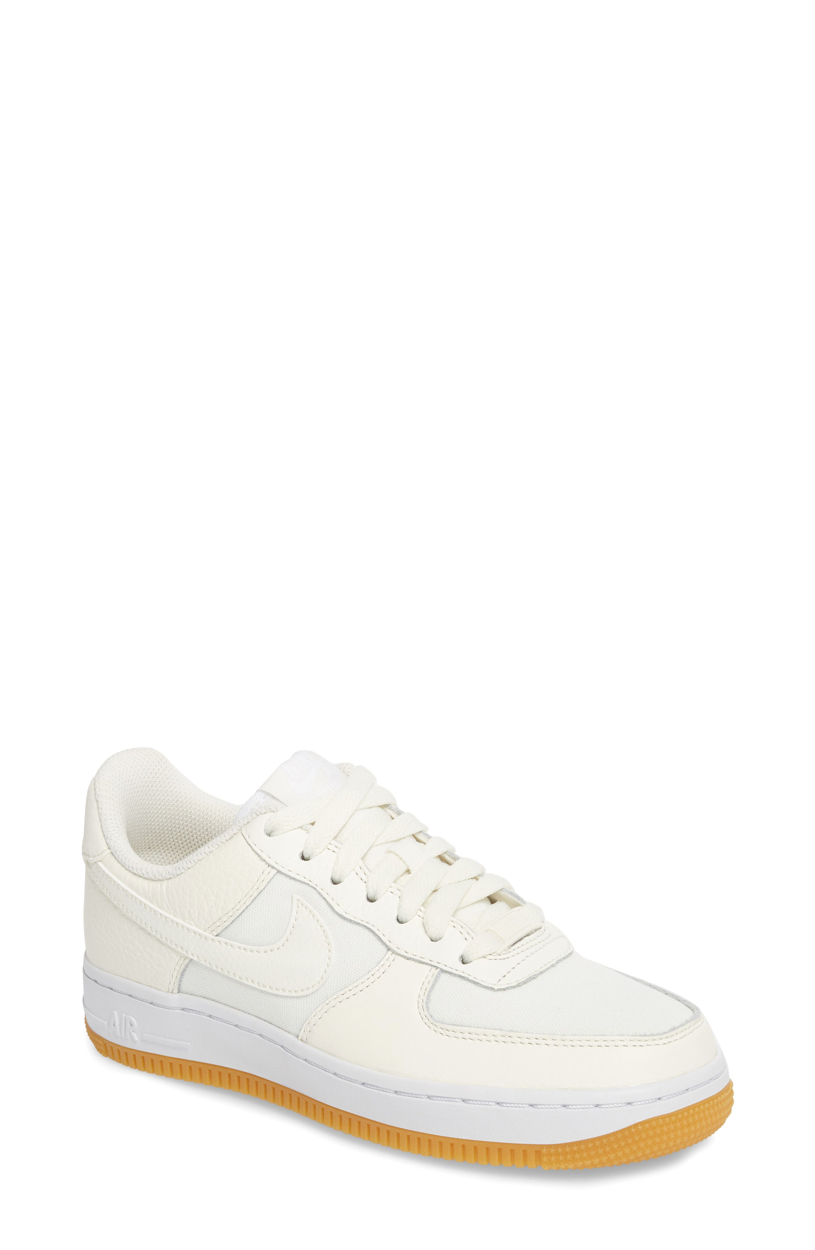 Air Force 1 '07 Premium Sneaker,                             Main thumbnail 1, color,                             Sail/ White/ Light Brown