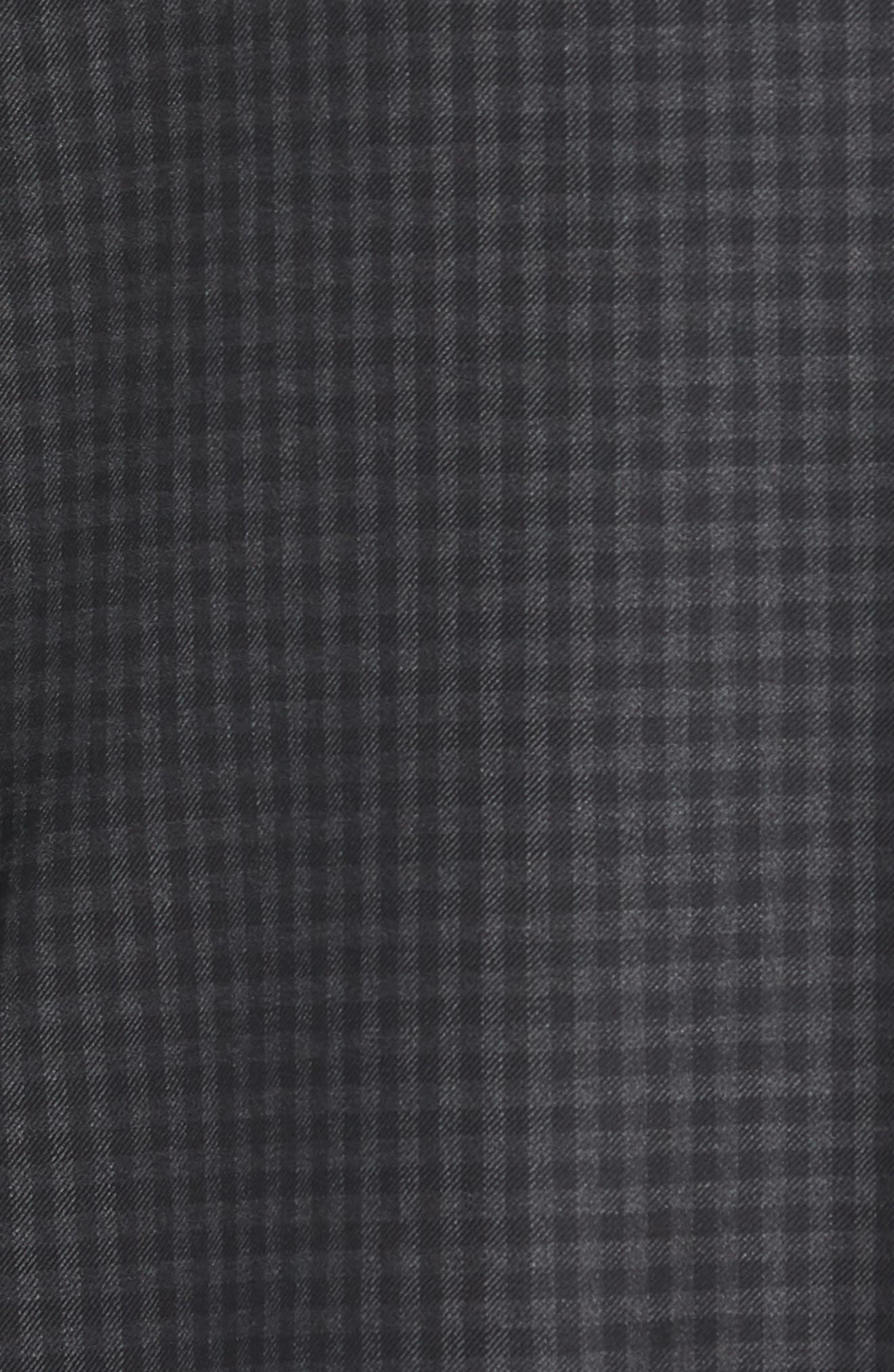Classic Fit Check Wool Sport Coat,                             Alternate thumbnail 5, color,                             Charcoal