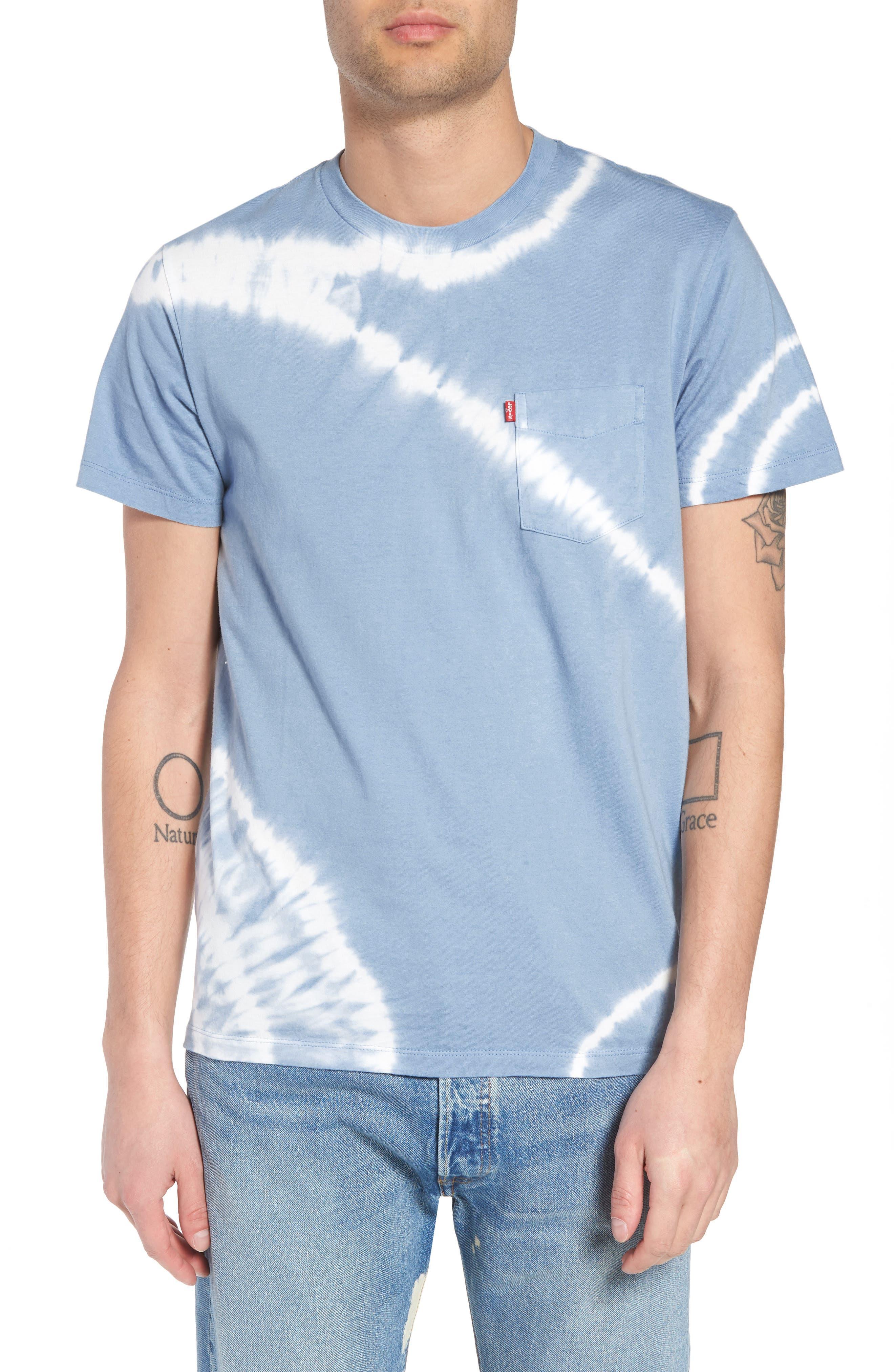 Set-In Sunset Pocket T-Shirt,                             Main thumbnail 1, color,                             Tie Dye Allure