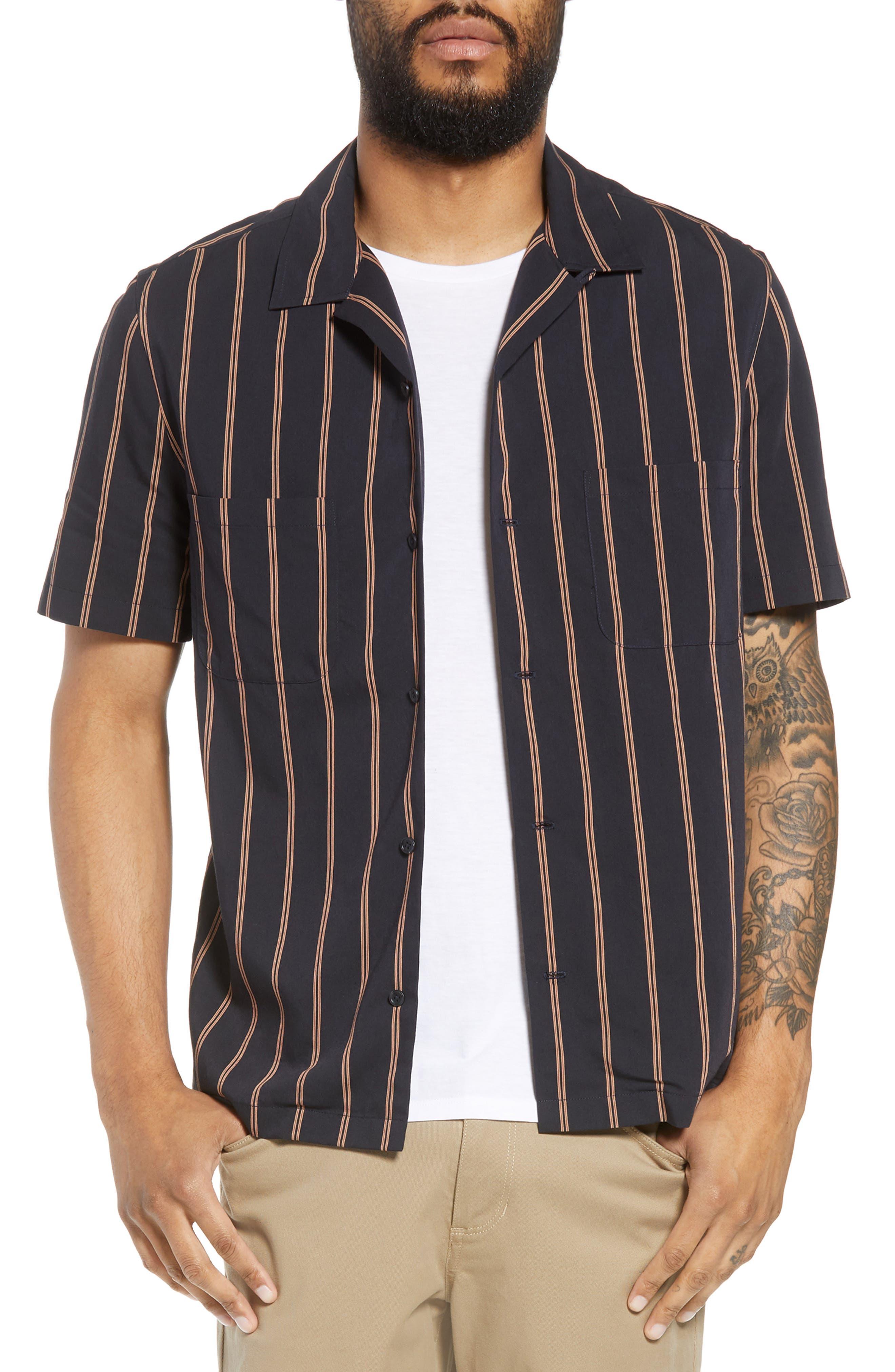 Classic Vintage Cabana Shirt,                         Main,                         color, New Coastal