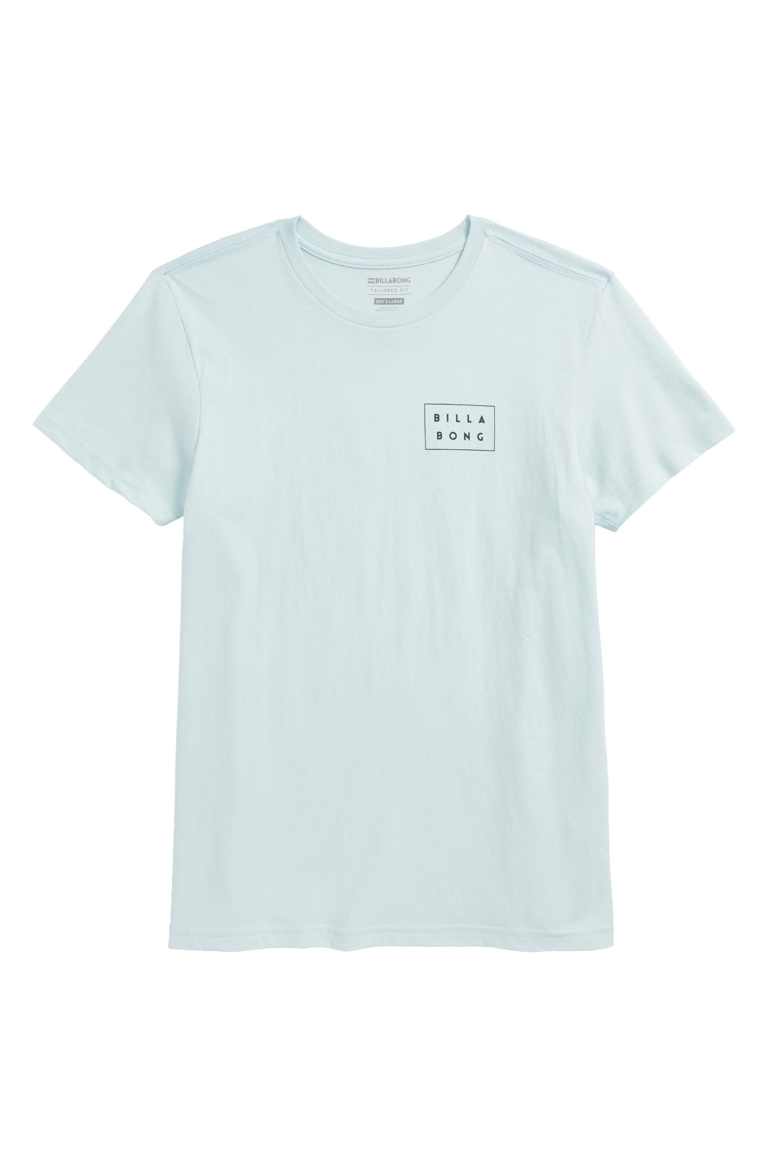 Die Cut T-Shirt,                         Main,                         color, Coastal Blue