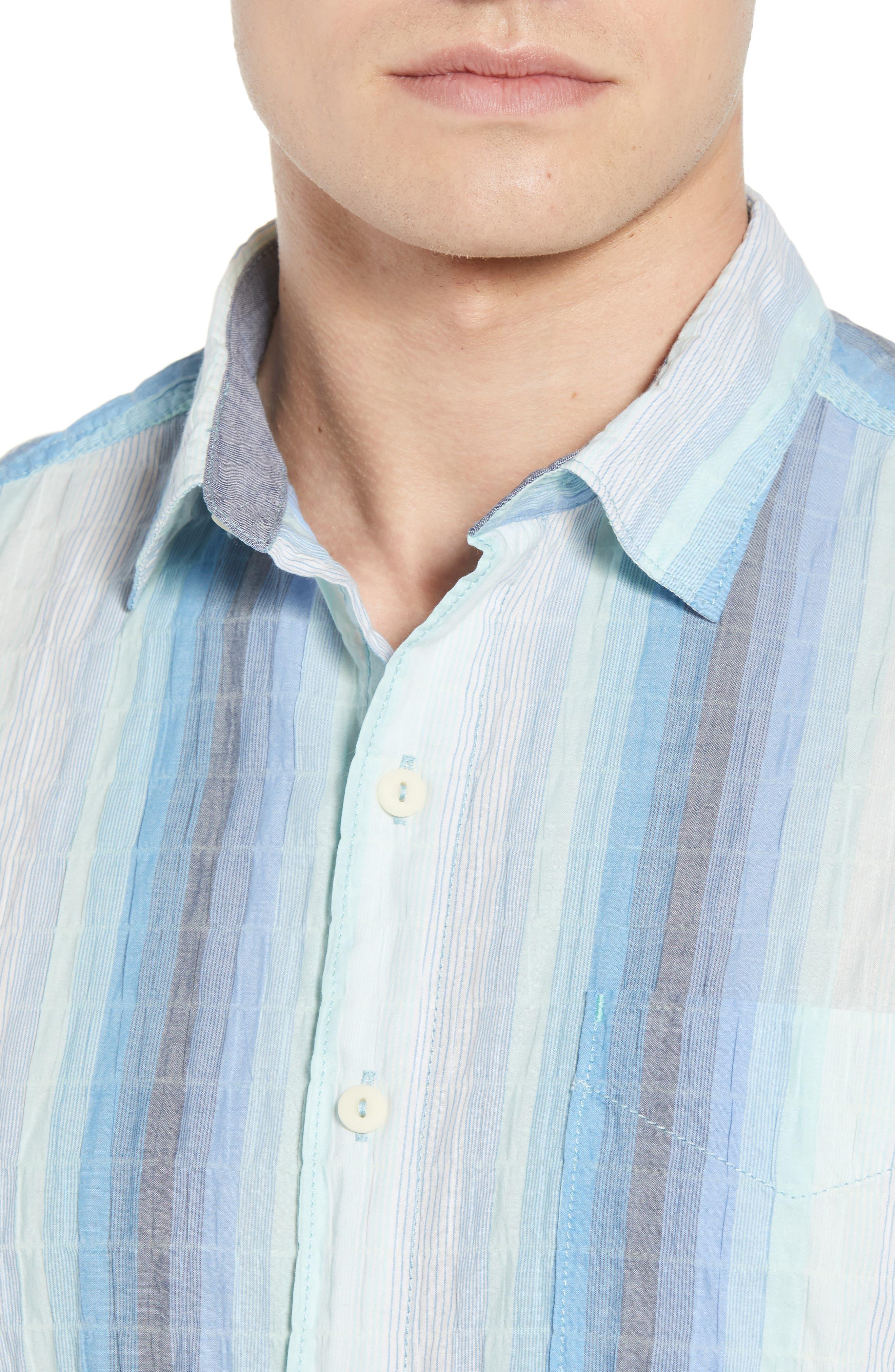 La Prisma Stripe Sport Shirt,                             Alternate thumbnail 2, color,                             Mint Mojito