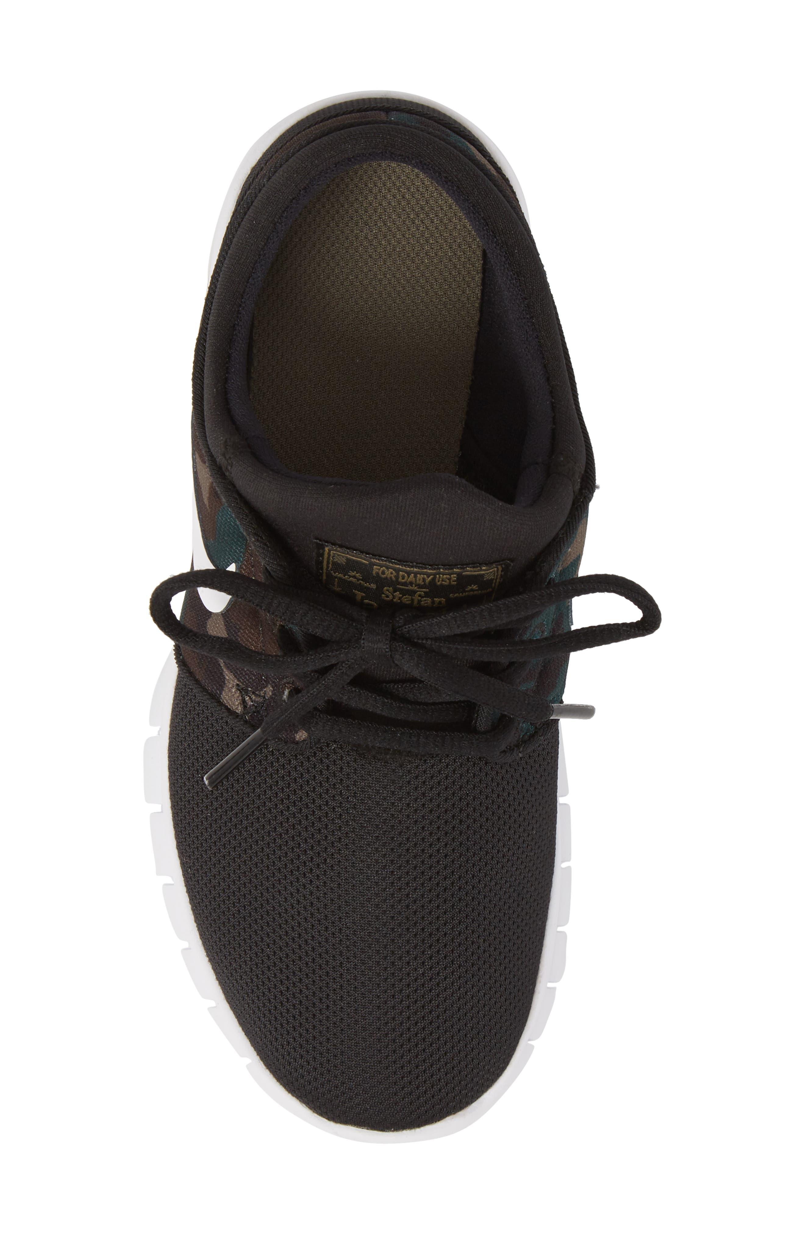 Stefan Janoski Max SB Skate Sneaker,                             Alternate thumbnail 5, color,                             Black/ White/ Olive/ Brown