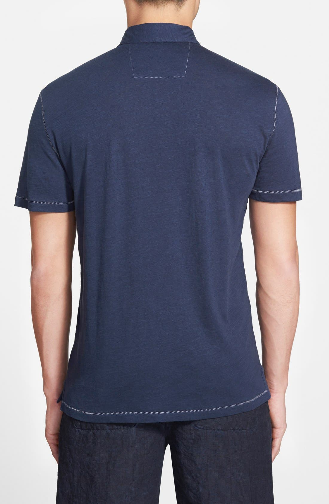 Slim Fit Polo,                             Alternate thumbnail 2, color,                             Oiled Blue